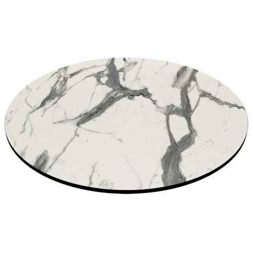 Compact Laminate Top Round Afyon Marble