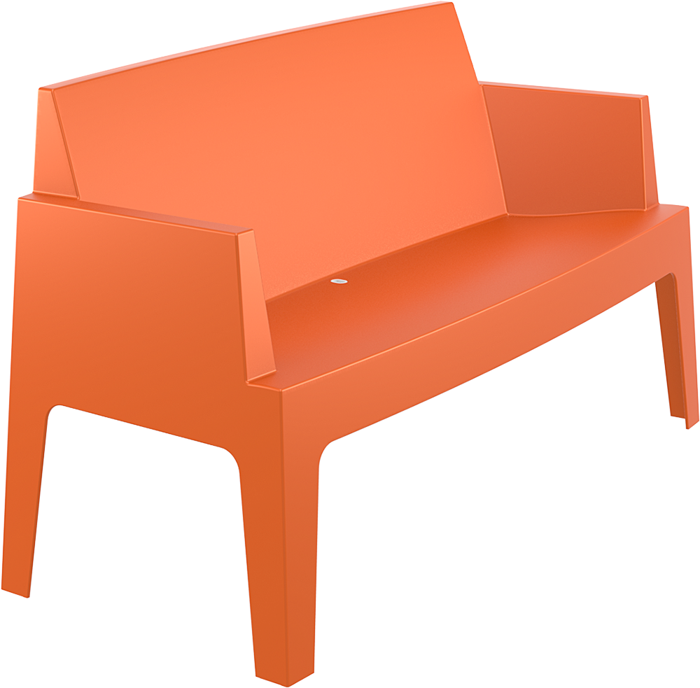 019 box sofa orange front side low 2312