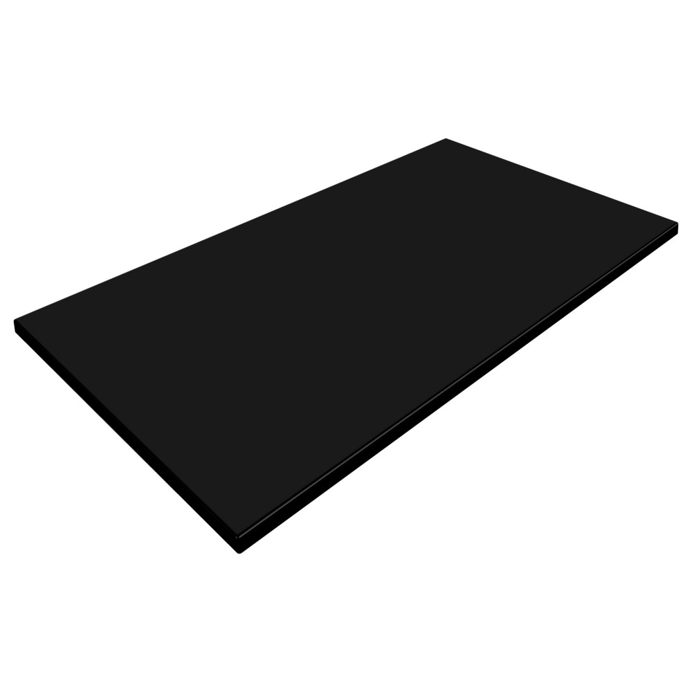 sm france rectangle table top black