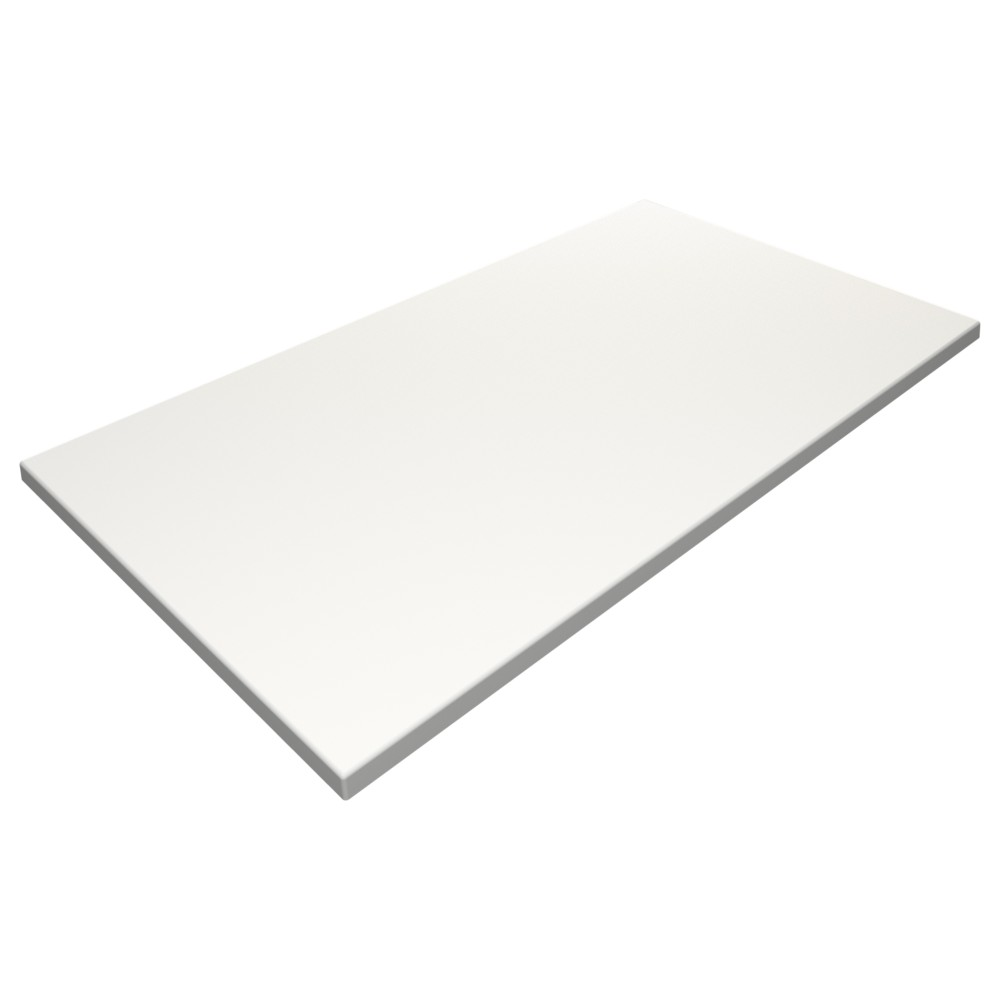 sm france rectangle table top white