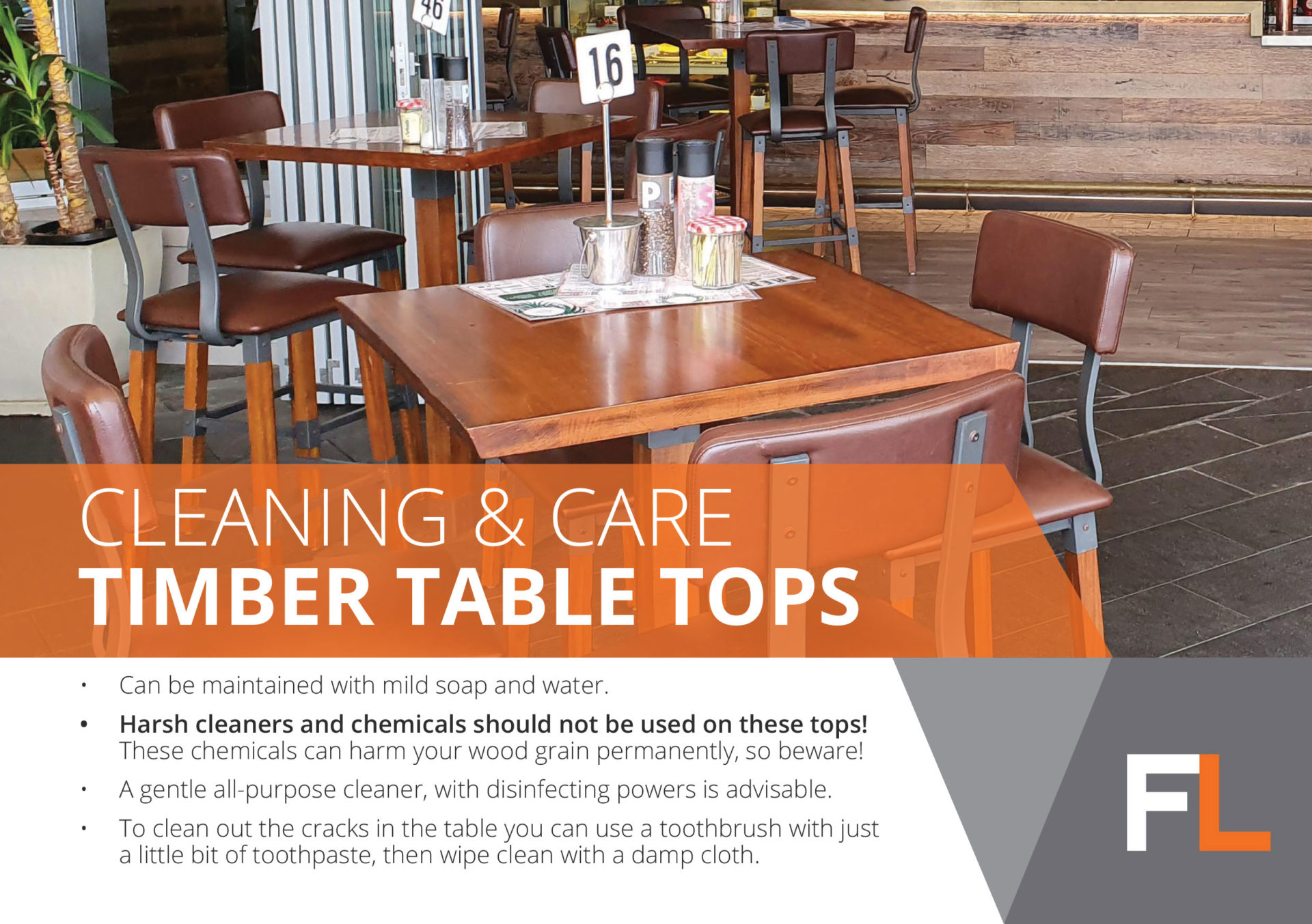 cleaning timbertabletops fl