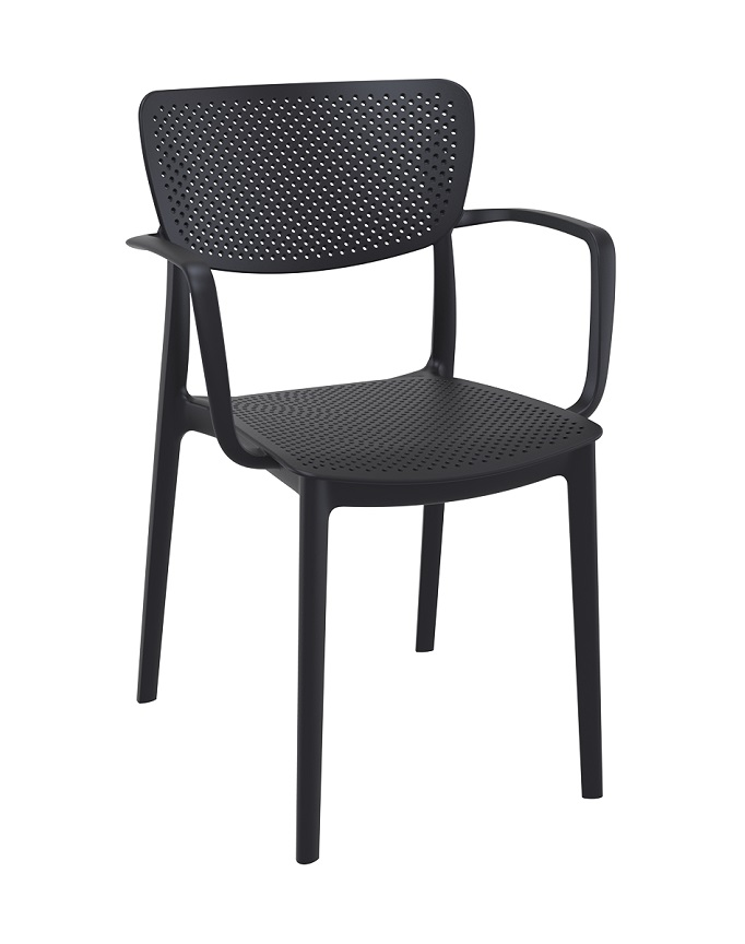 loft armchair black
