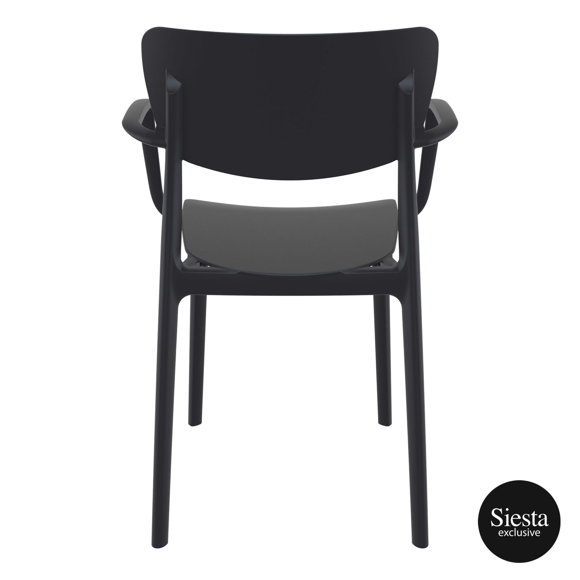 polypropylene hospitality seating lisa armchair black back 1