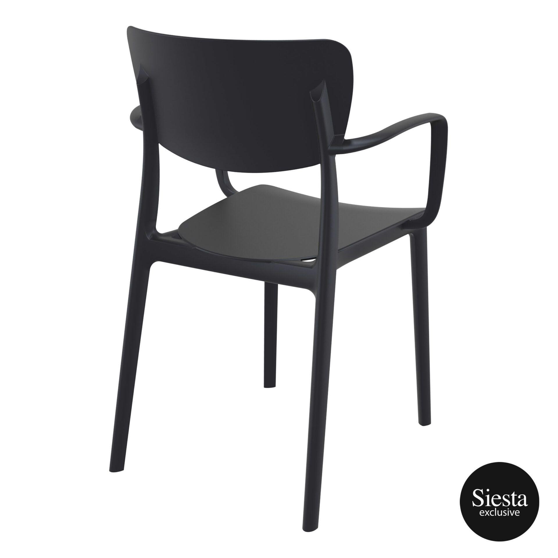 polypropylene hospitality seating lisa armchair black back side 1