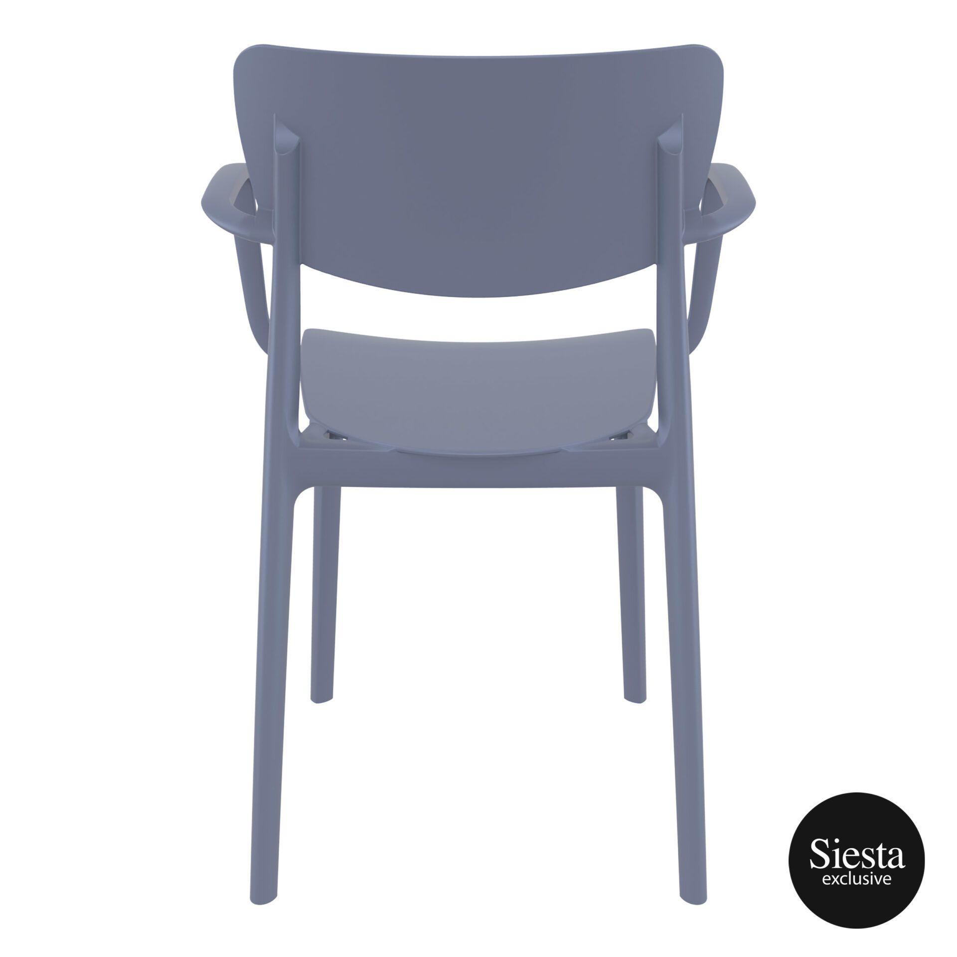 polypropylene hospitality seating lisa armchair darkgrey back 1