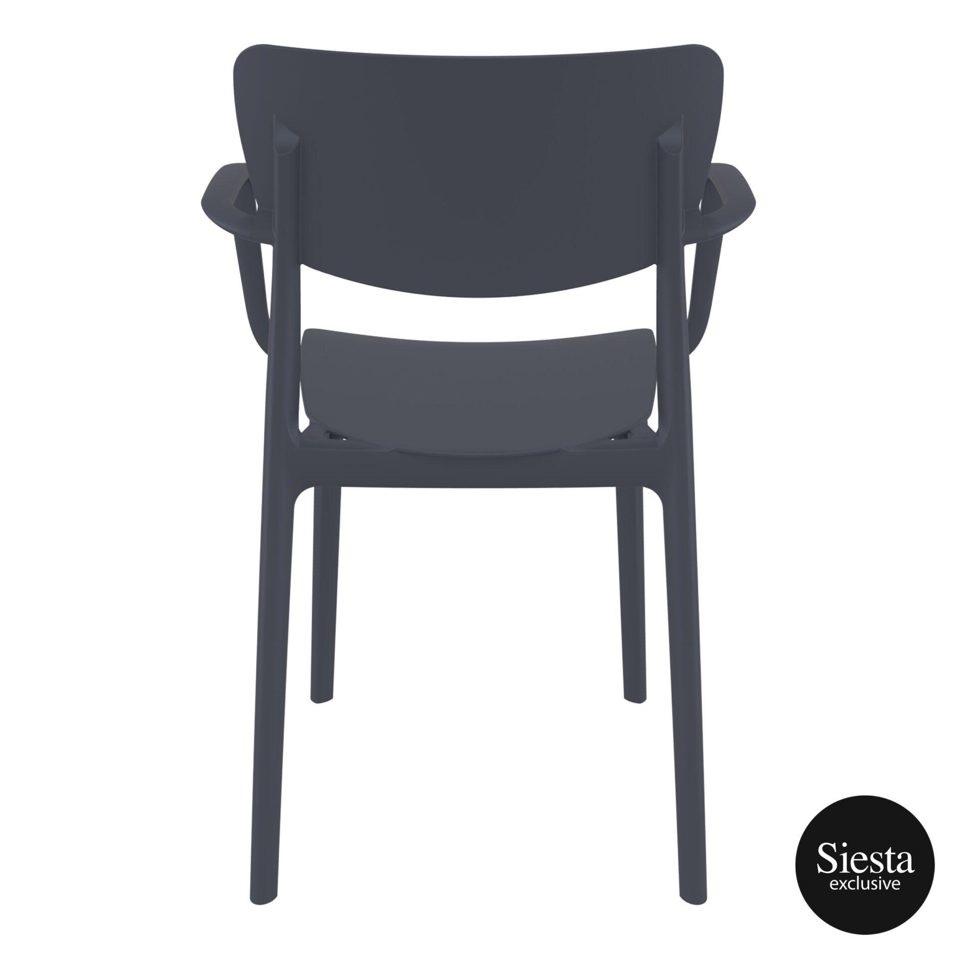 polypropylene hospitality seating lisa armchair darkgrey back 2