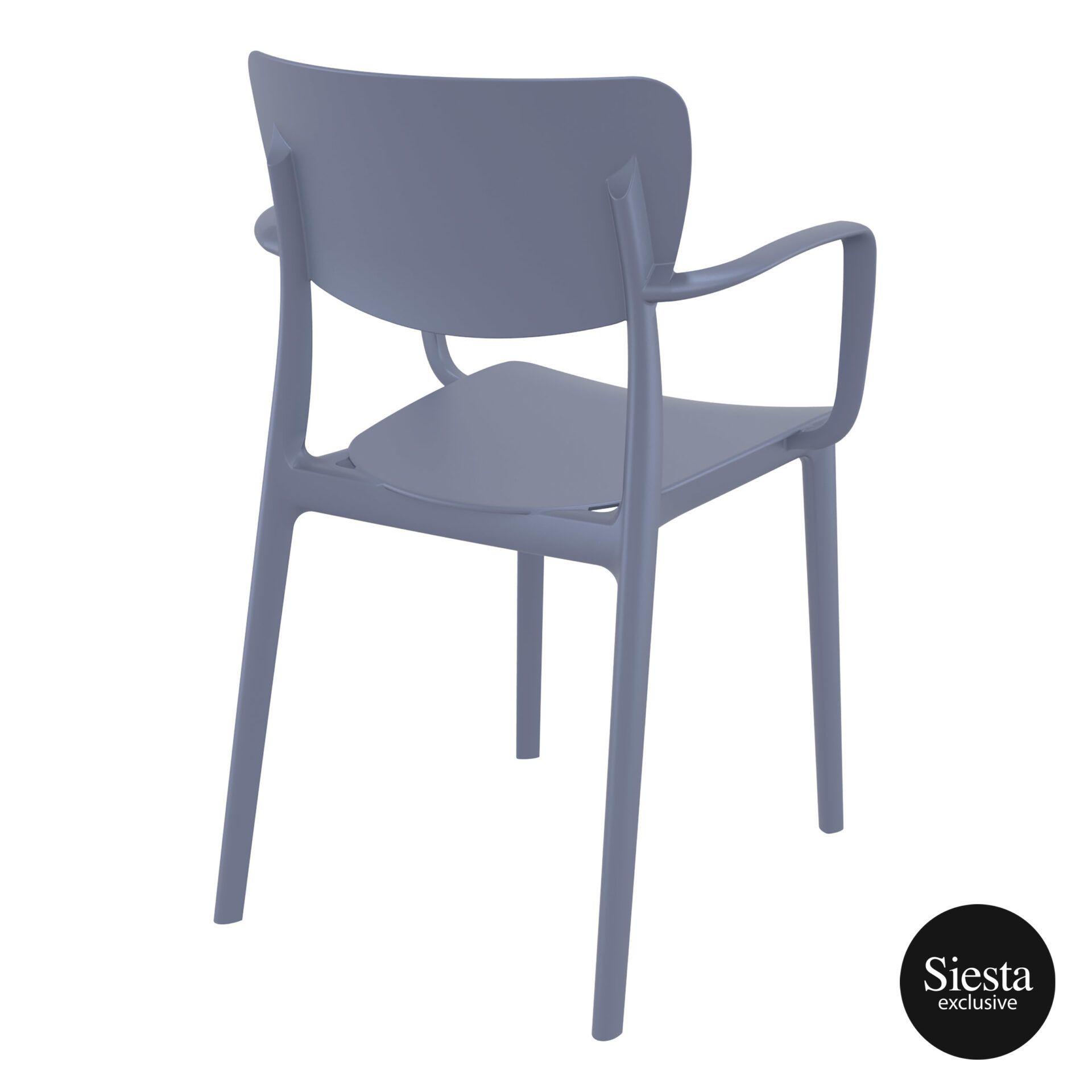 polypropylene hospitality seating lisa armchair darkgrey back side 1