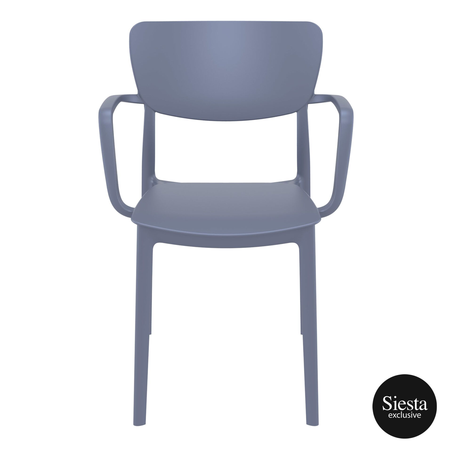 polypropylene hospitality seating lisa armchair darkgrey front 1