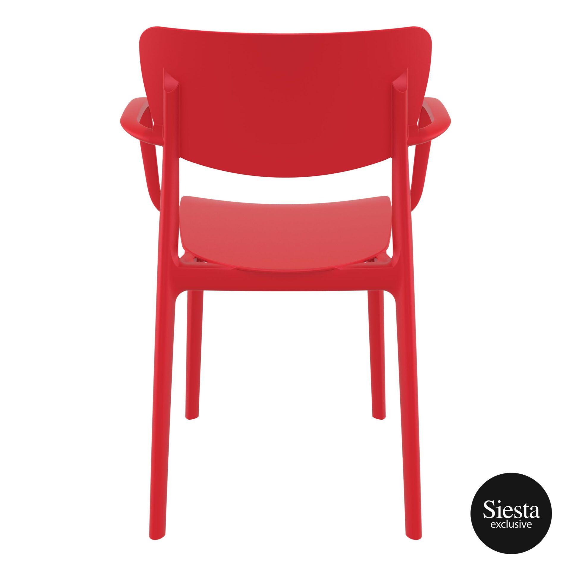 polypropylene hospitality seating lisa armchair red back 1