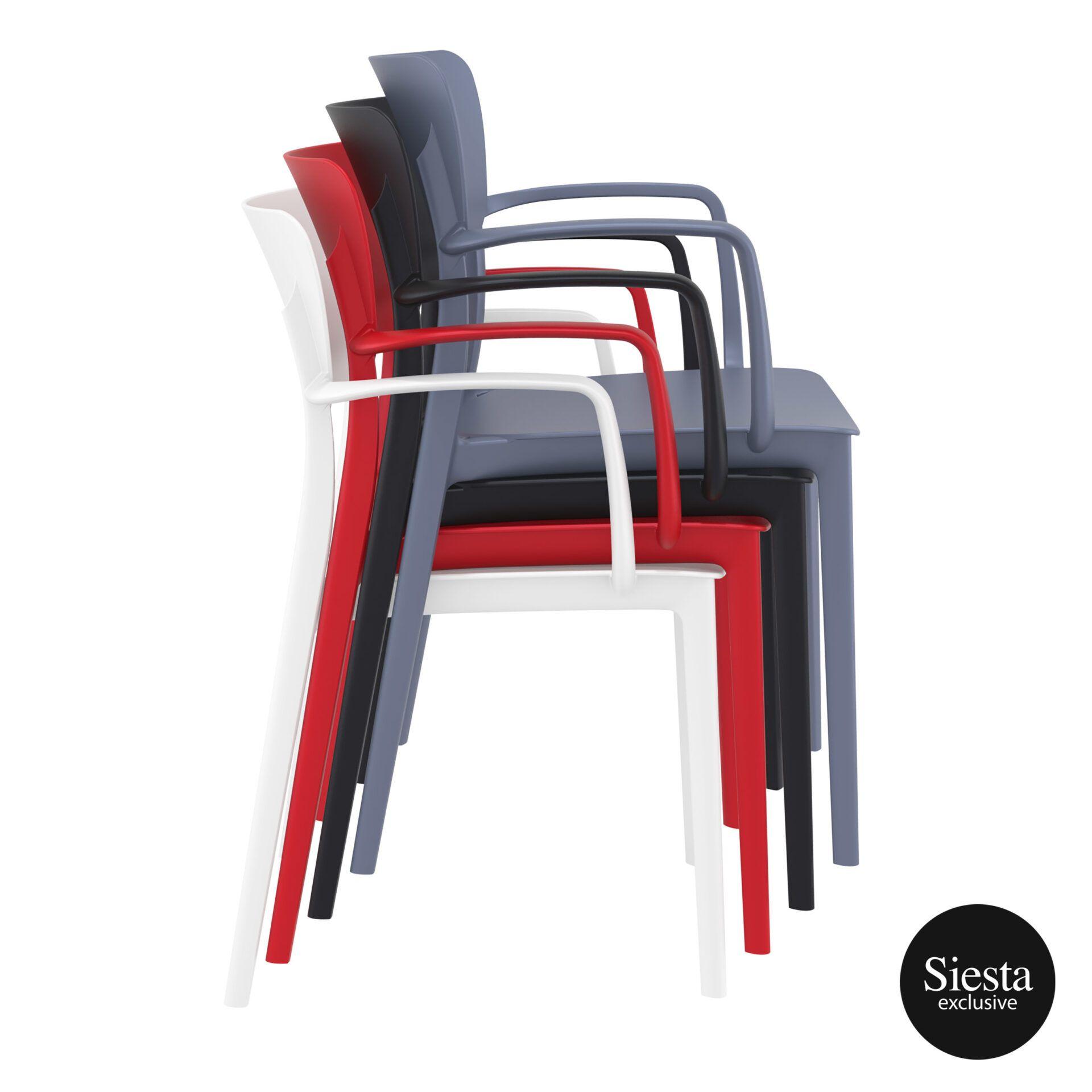 polypropylene hospitality seating lisa armchair stack 2