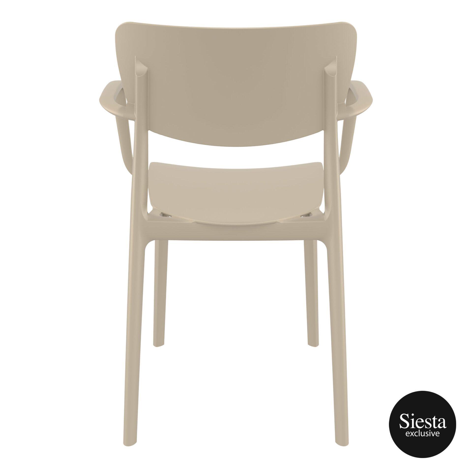polypropylene hospitality seating lisa armchair taupe back 1