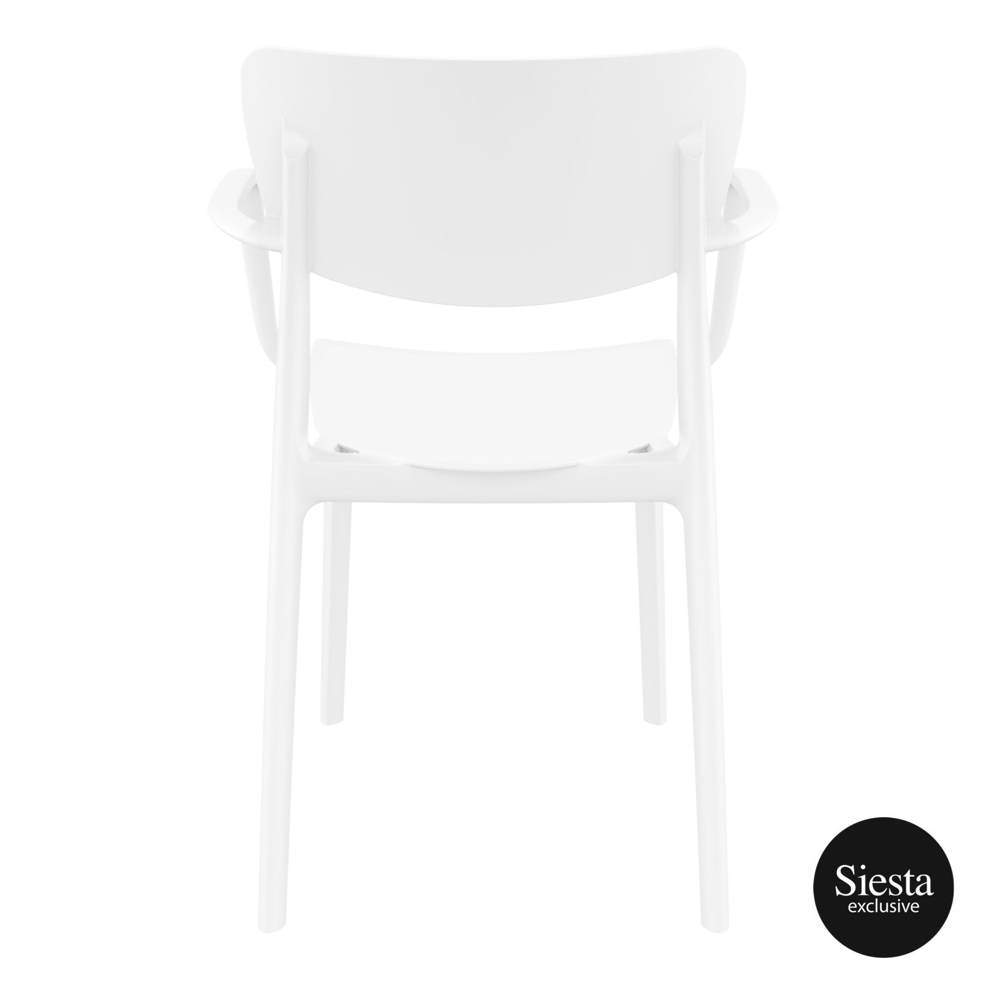 polypropylene hospitality seating lisa armchair white back 1