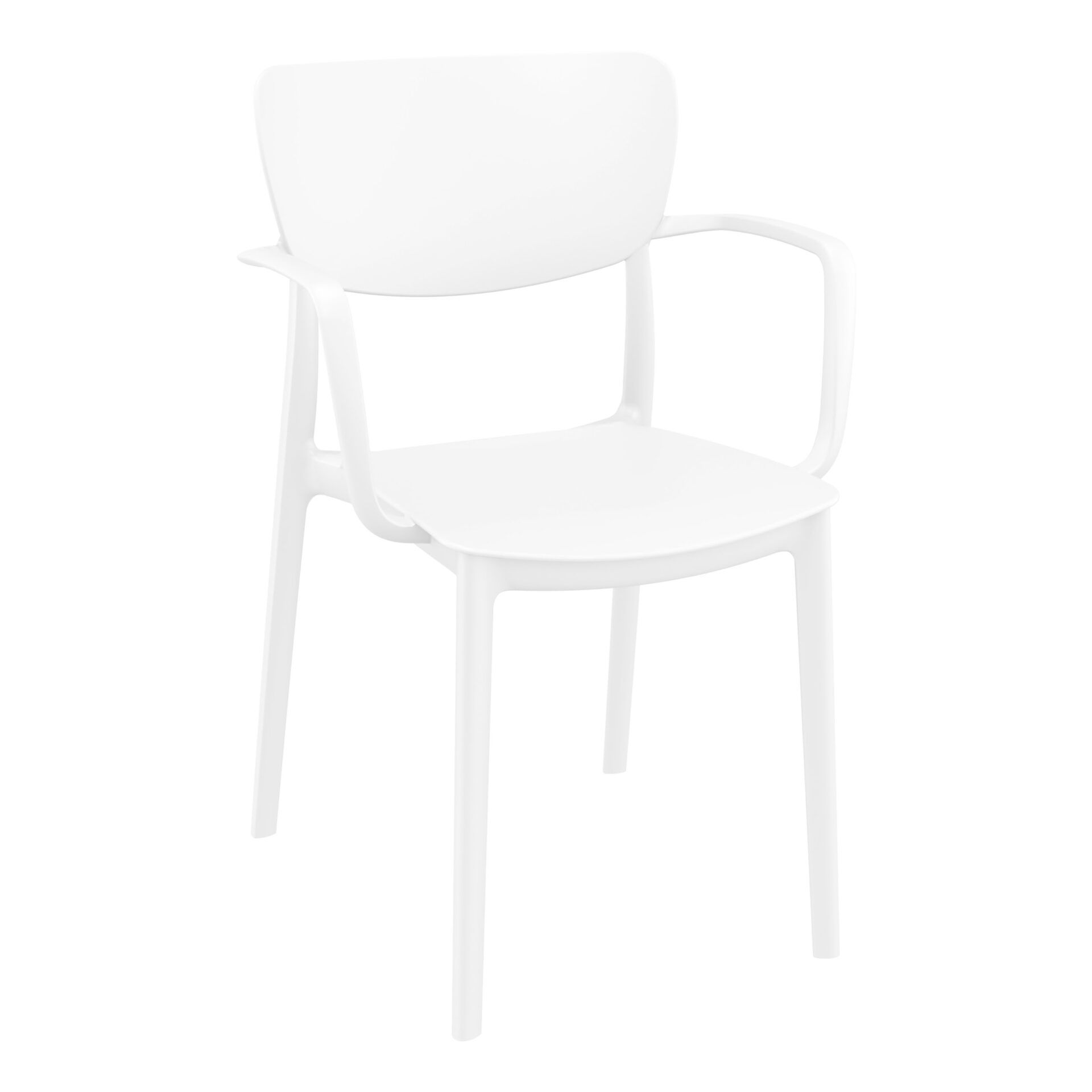polypropylene hospitality seating lisa armchair white front side