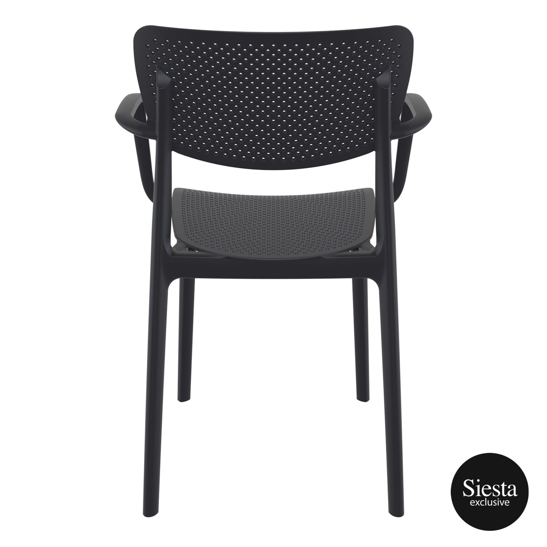 polypropylene hospitality seating loft armchair black back 1