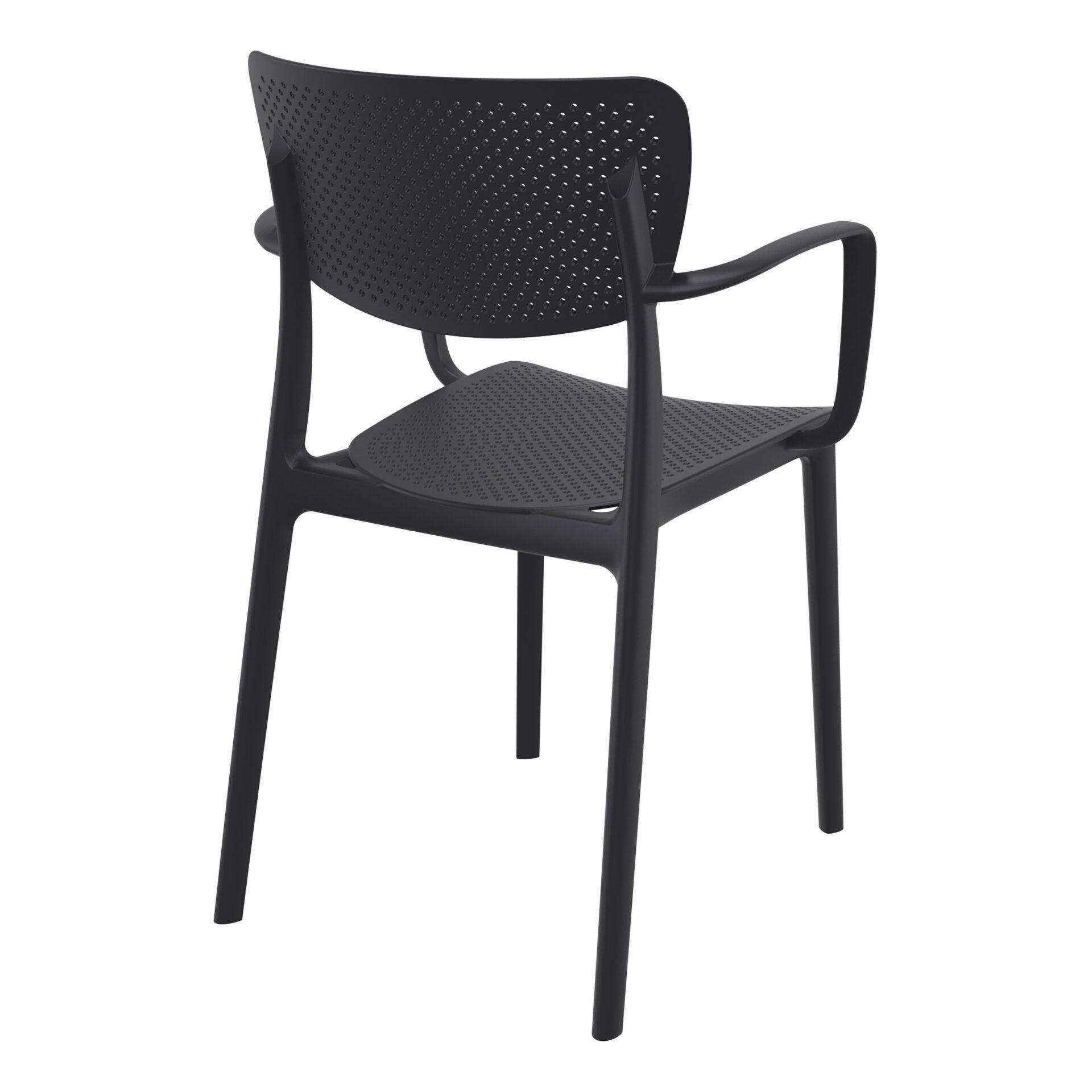 polypropylene hospitality seating loft armchair black back side
