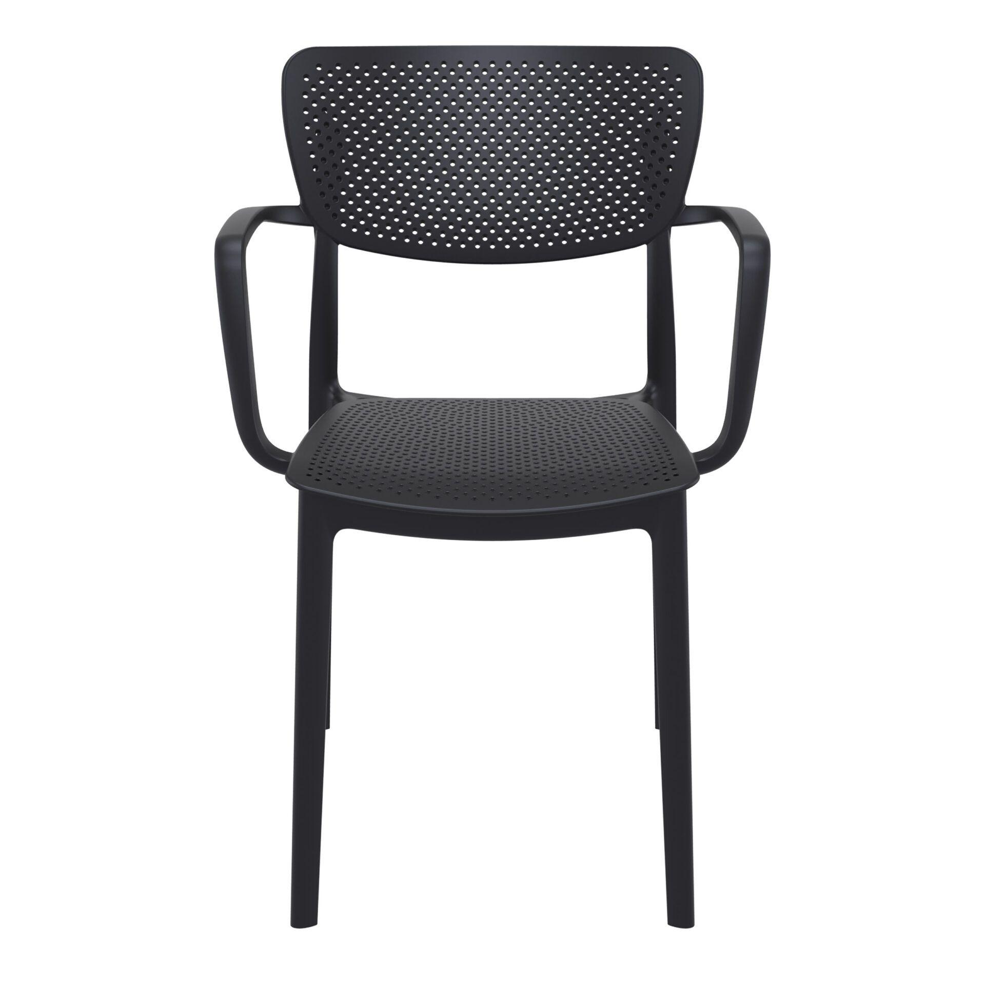 polypropylene hospitality seating loft armchair black front