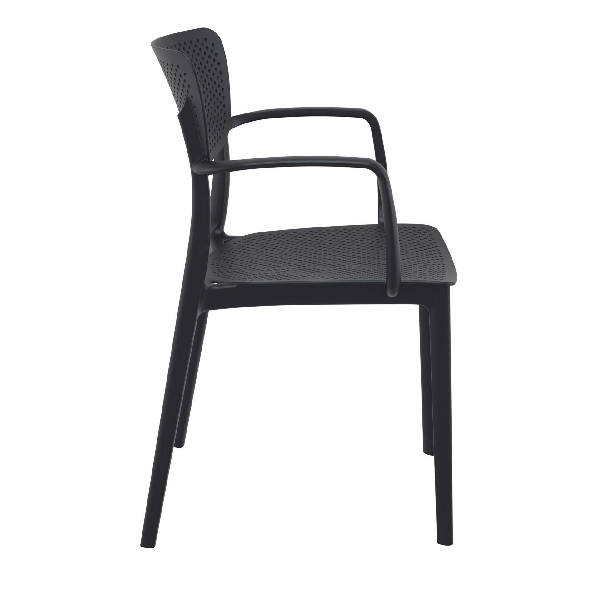 polypropylene hospitality seating loft armchair black side