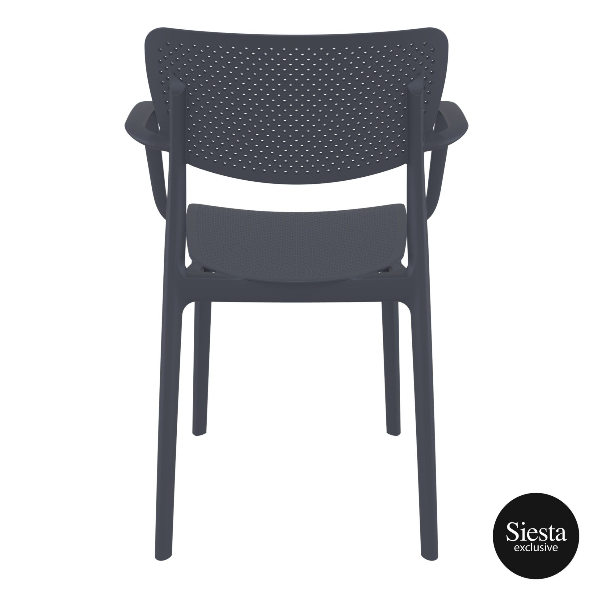 polypropylene hospitality seating loft armchair darkgrey back 2