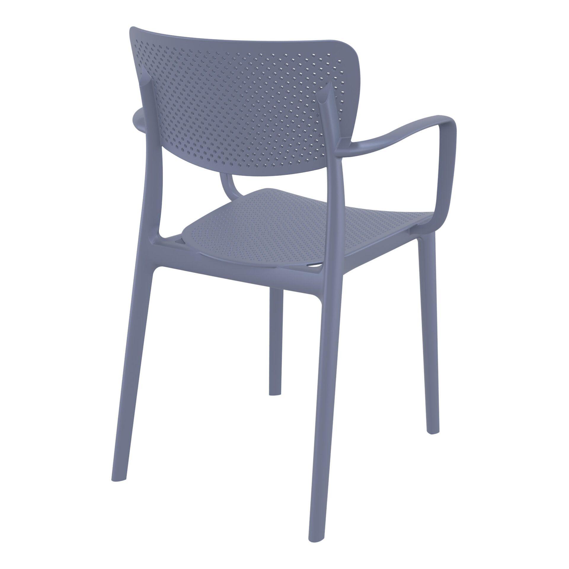 polypropylene hospitality seating loft armchair darkgrey back side