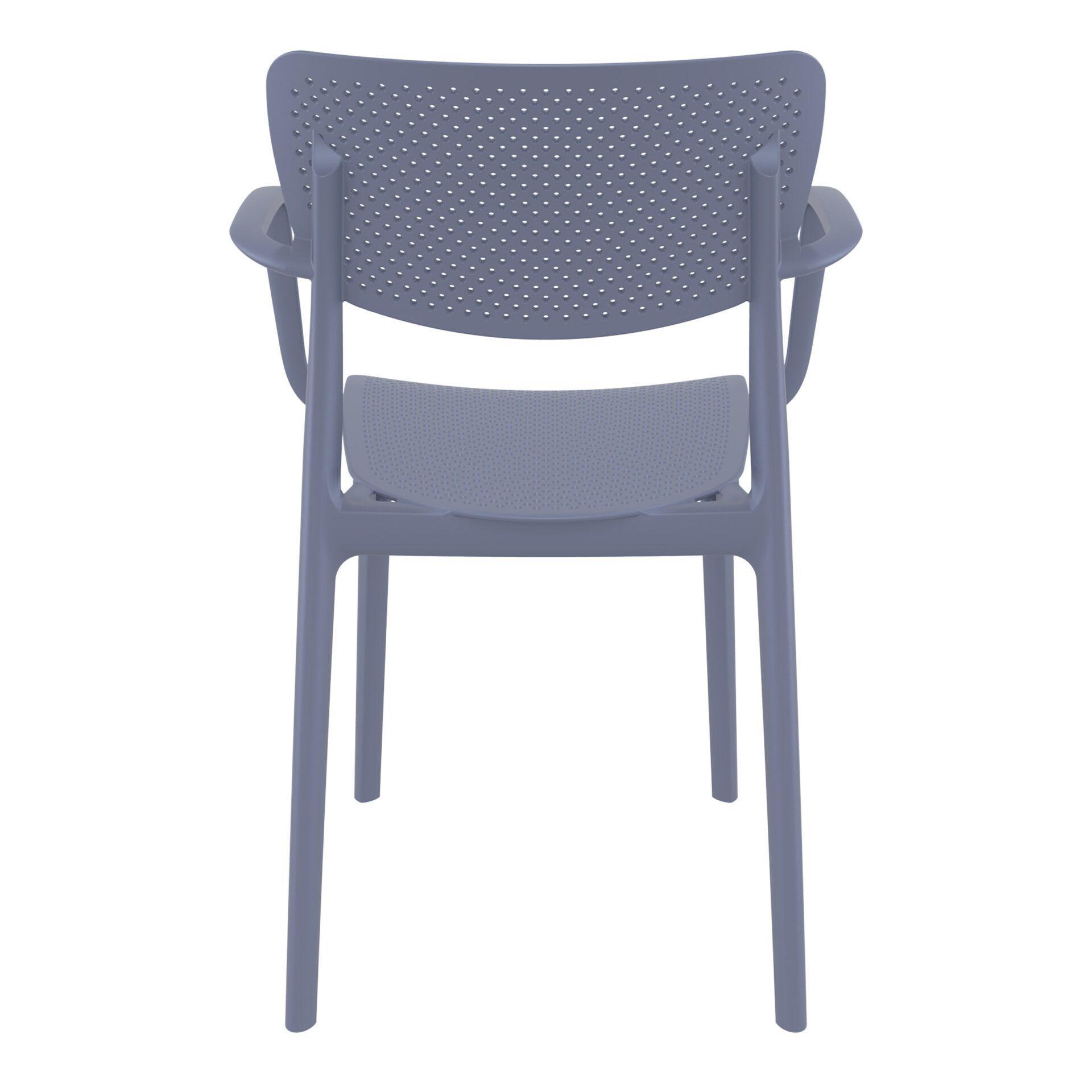polypropylene hospitality seating loft armchair darkgrey back