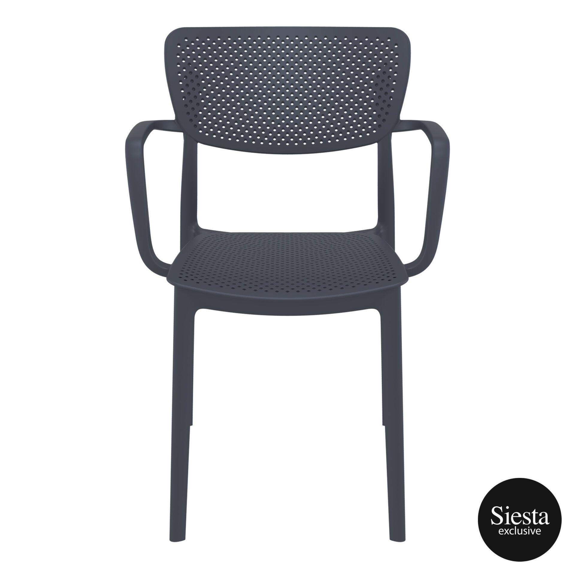 polypropylene hospitality seating loft armchair darkgrey front 2