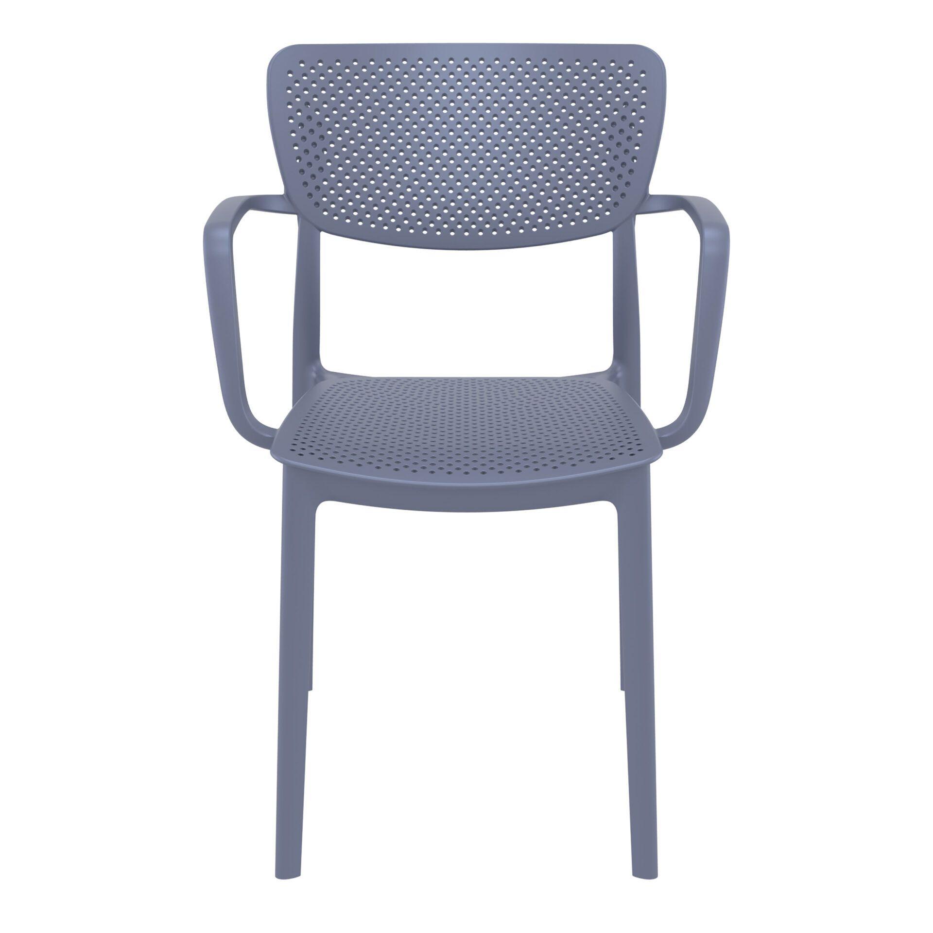 polypropylene hospitality seating loft armchair darkgrey front