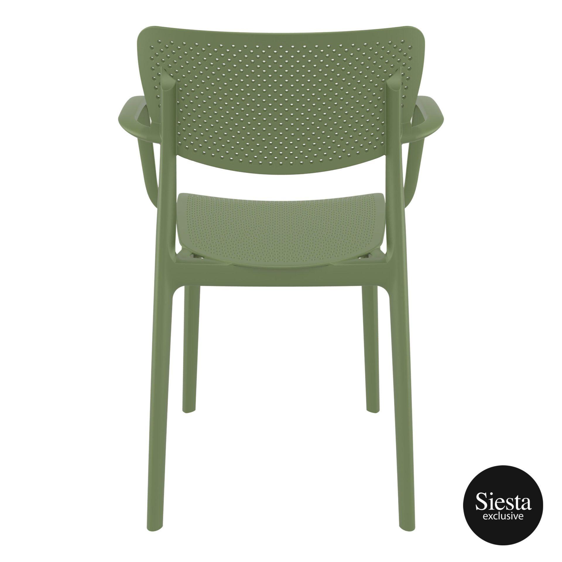 polypropylene hospitality seating loft armchair olive green back 1