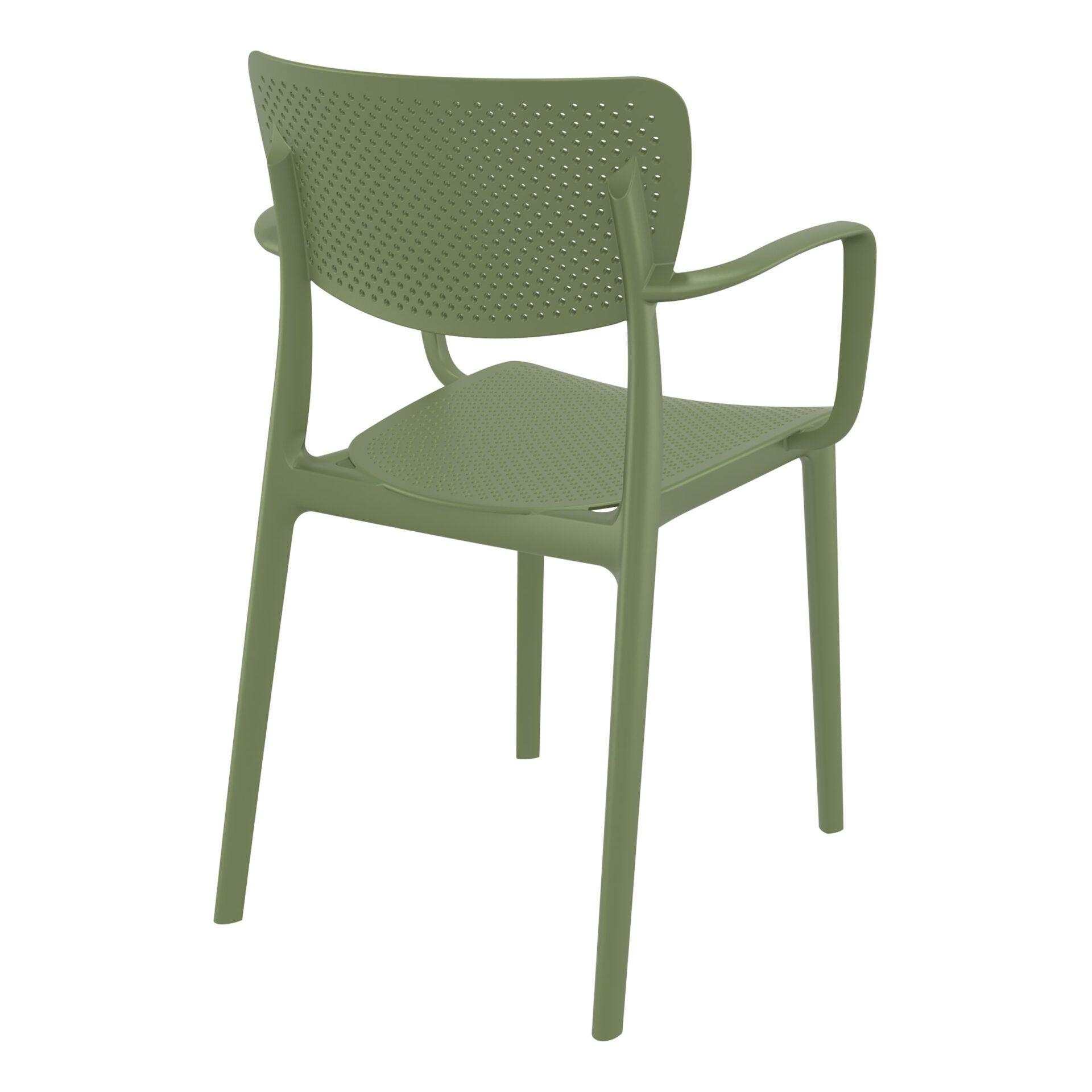 polypropylene hospitality seating loft armchair olive green back side