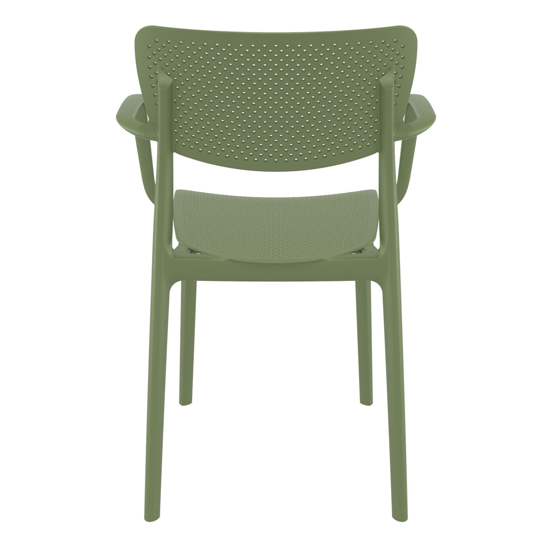 polypropylene hospitality seating loft armchair olive green back