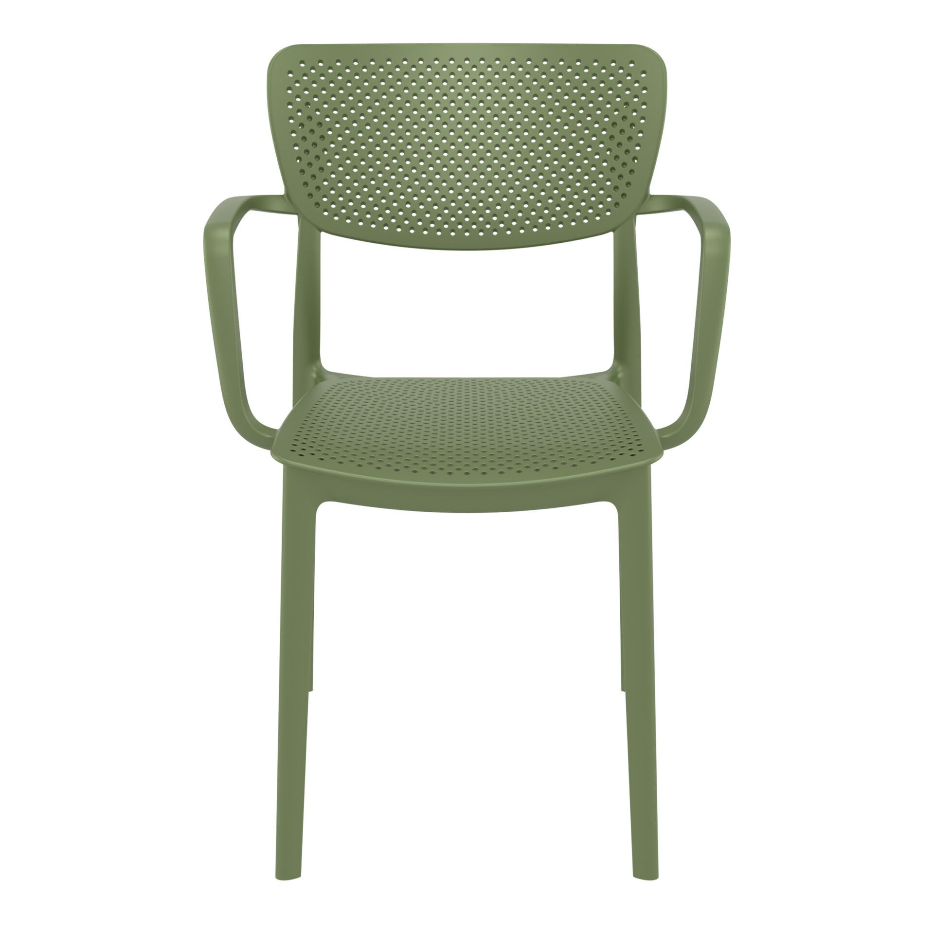 polypropylene hospitality seating loft armchair olive green front