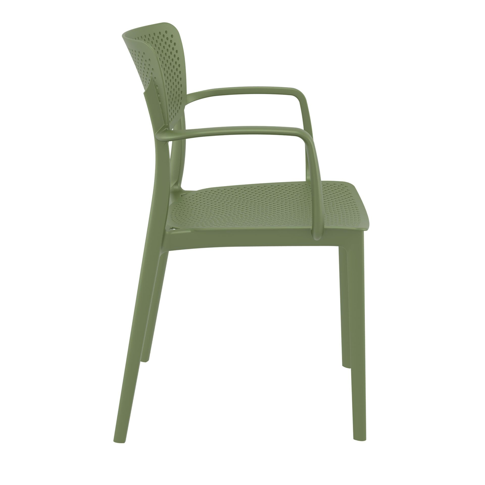 polypropylene hospitality seating loft armchair olive green side
