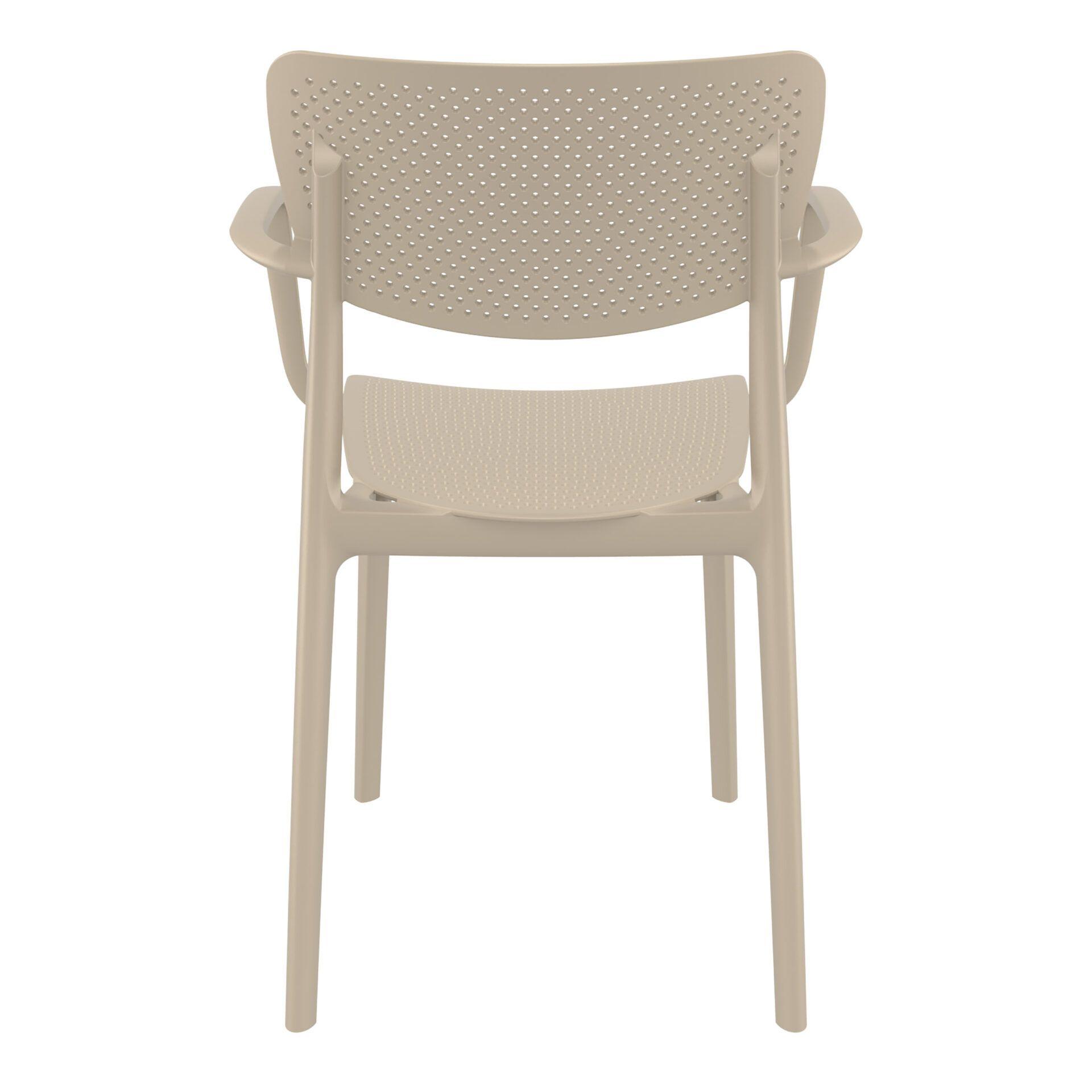 polypropylene hospitality seating loft armchair taupe back