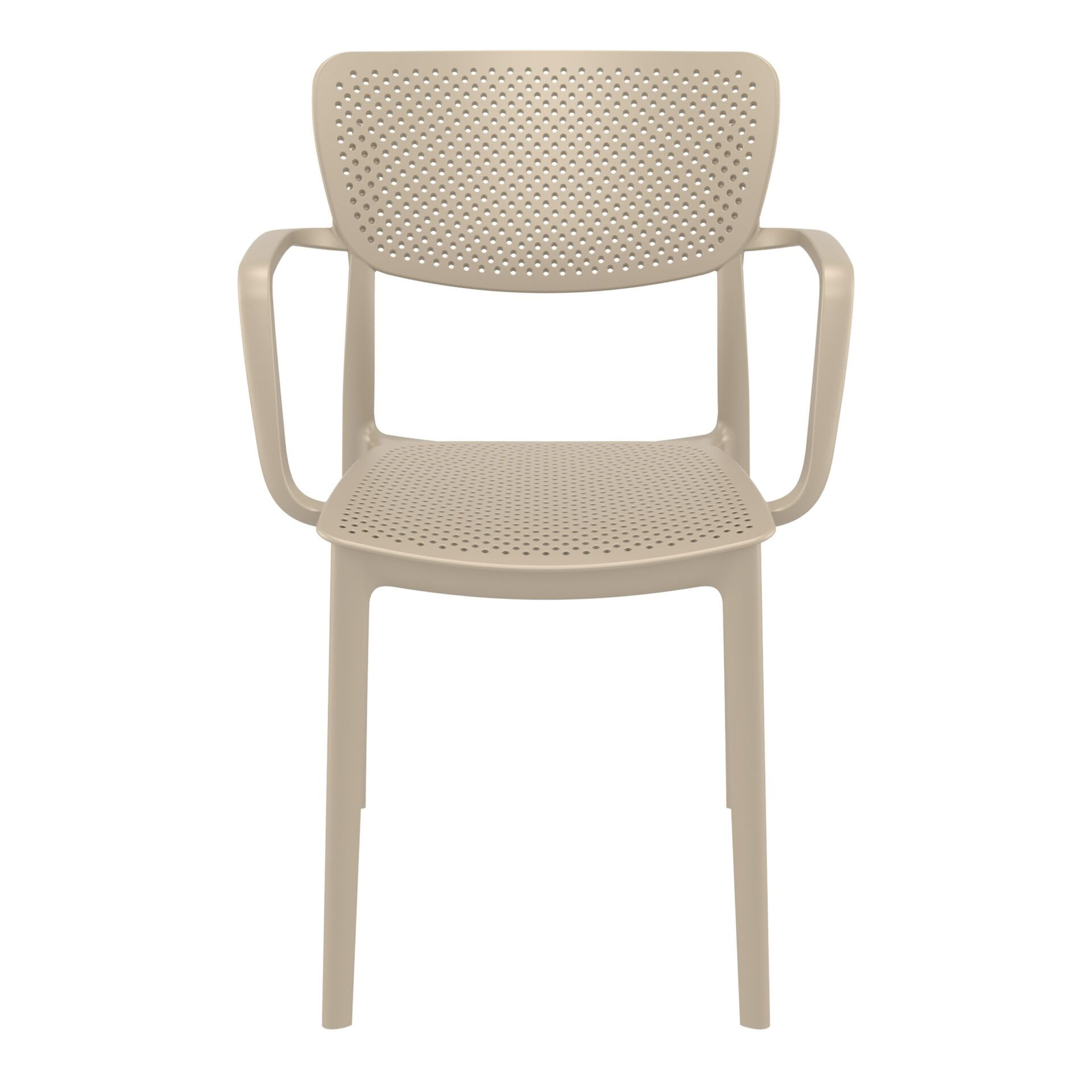 polypropylene hospitality seating loft armchair taupe front