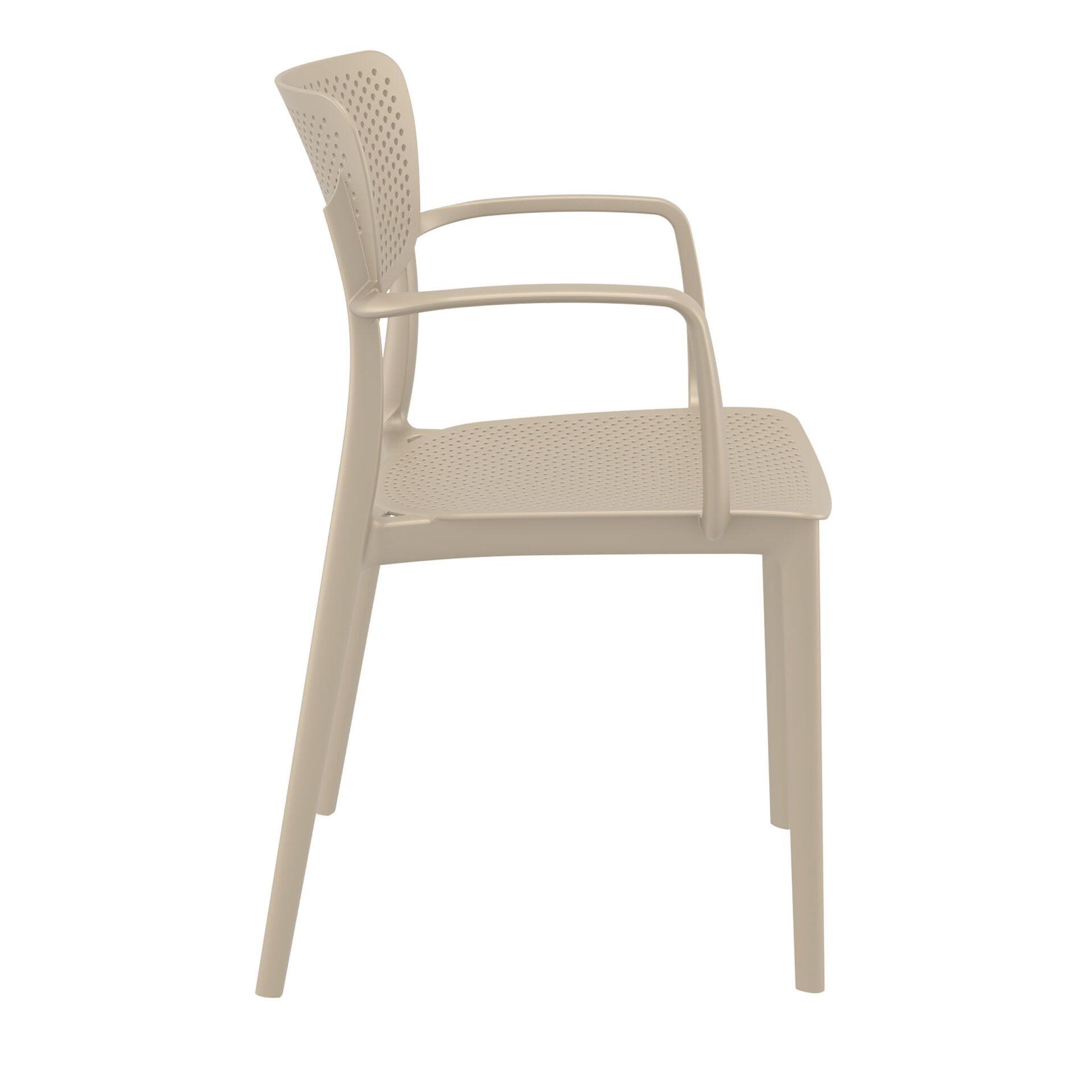 polypropylene hospitality seating loft armchair taupe side