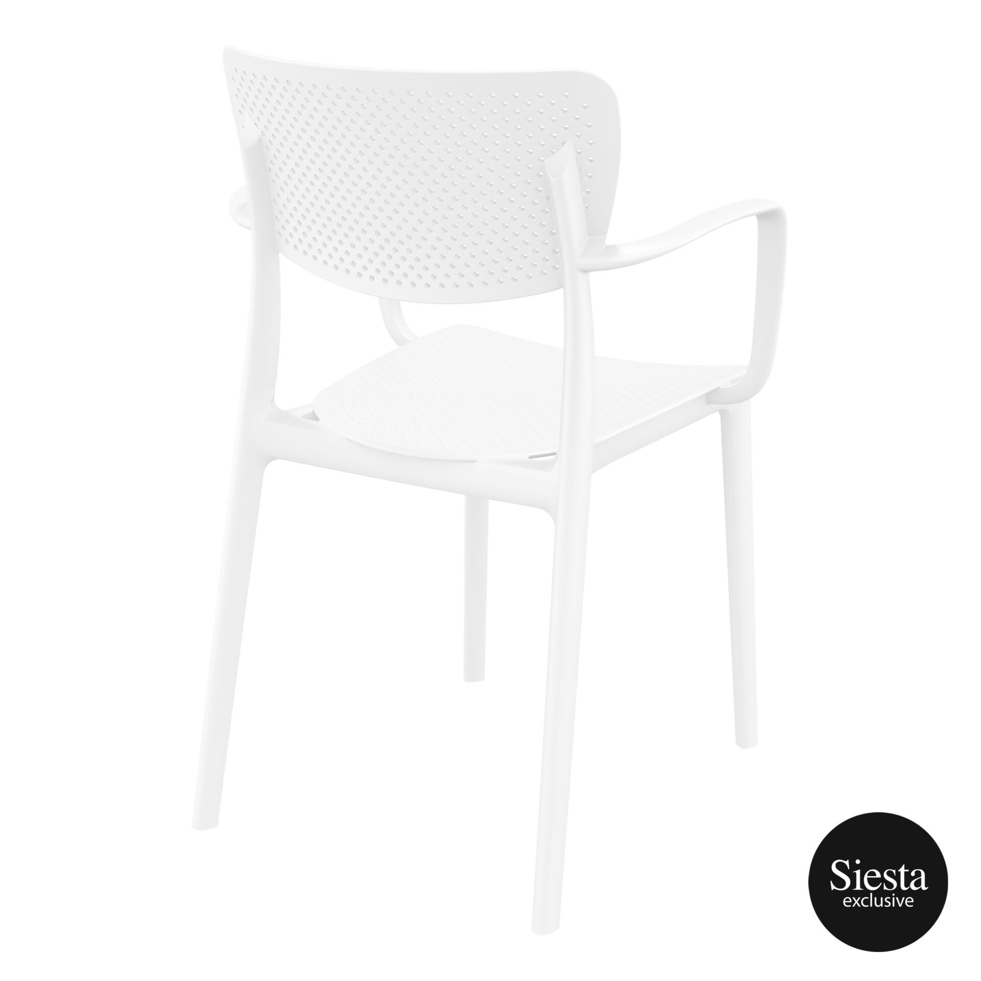 polypropylene hospitality seating loft armchair white back side 1