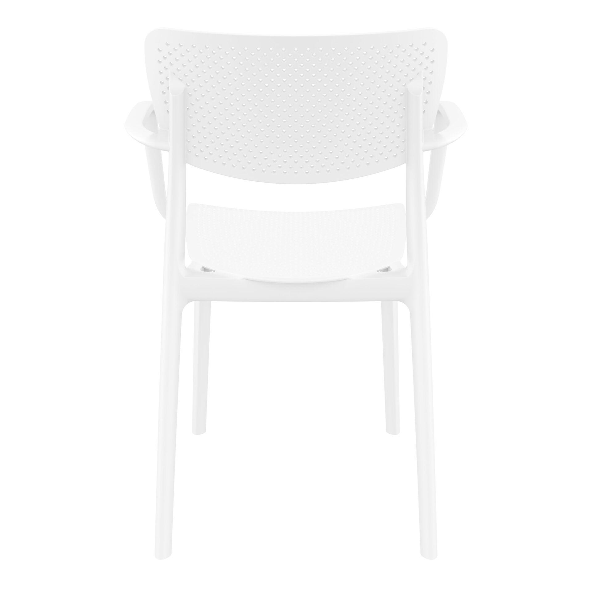 polypropylene hospitality seating loft armchair white back