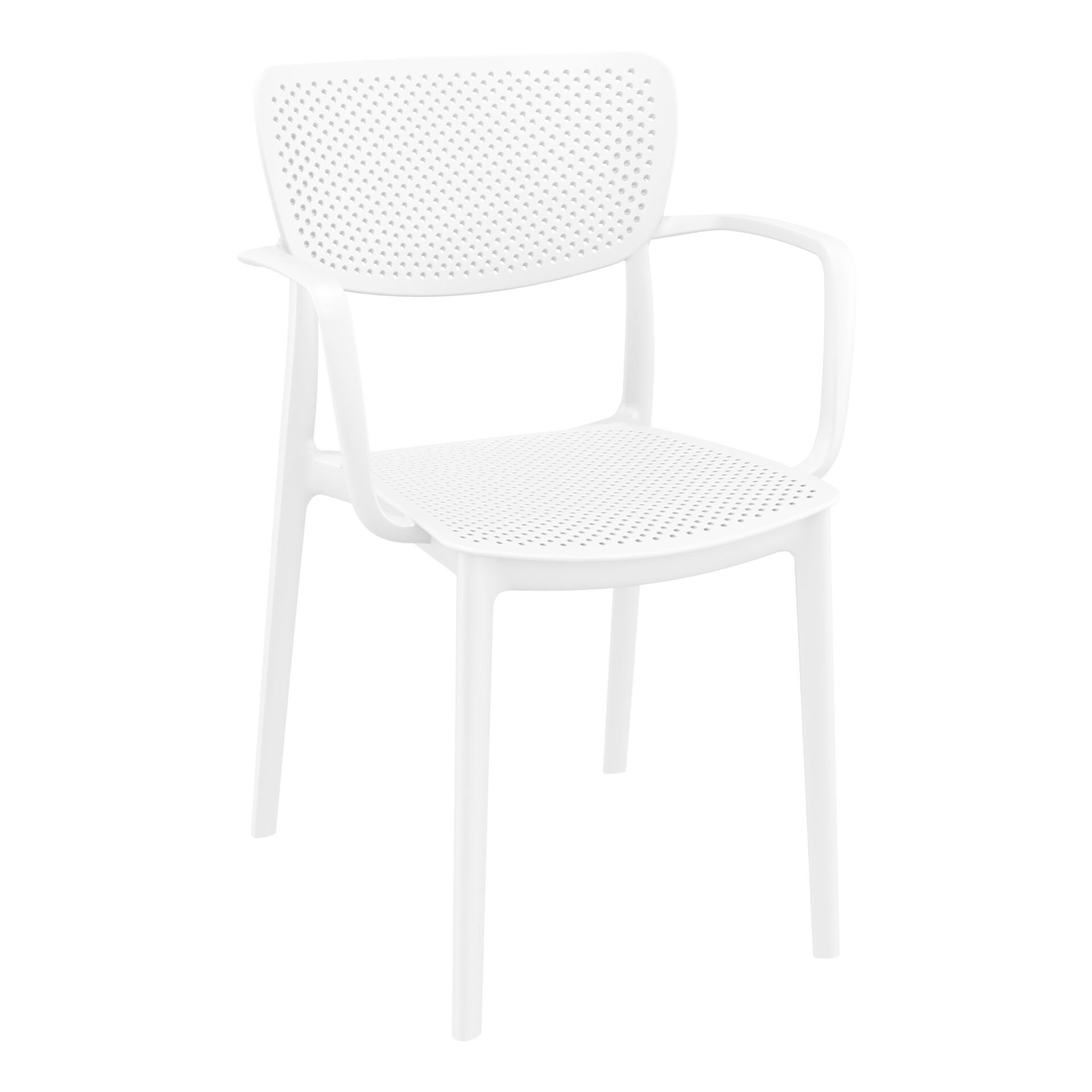 polypropylene hospitality seating loft armchair white front side