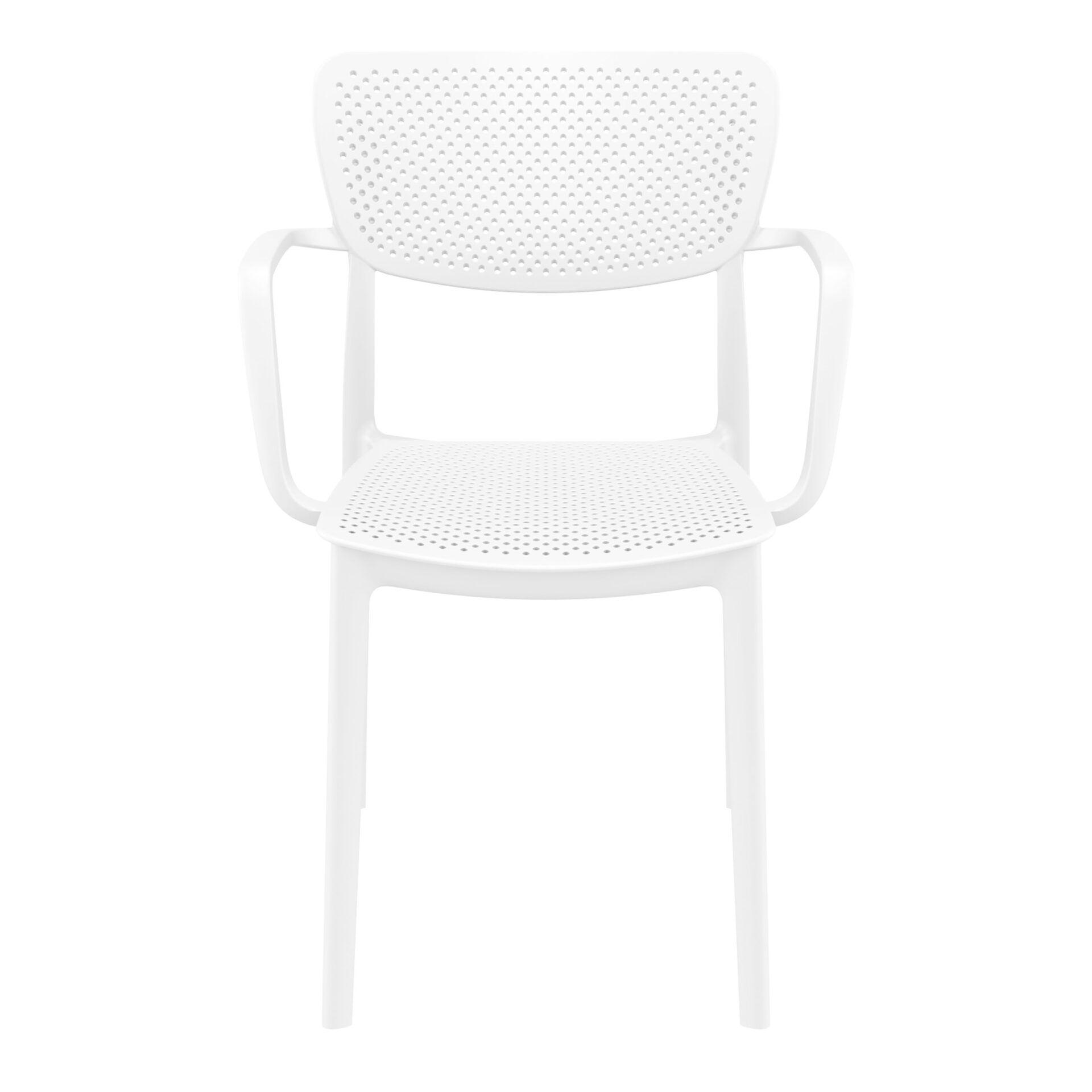 polypropylene hospitality seating loft armchair white front