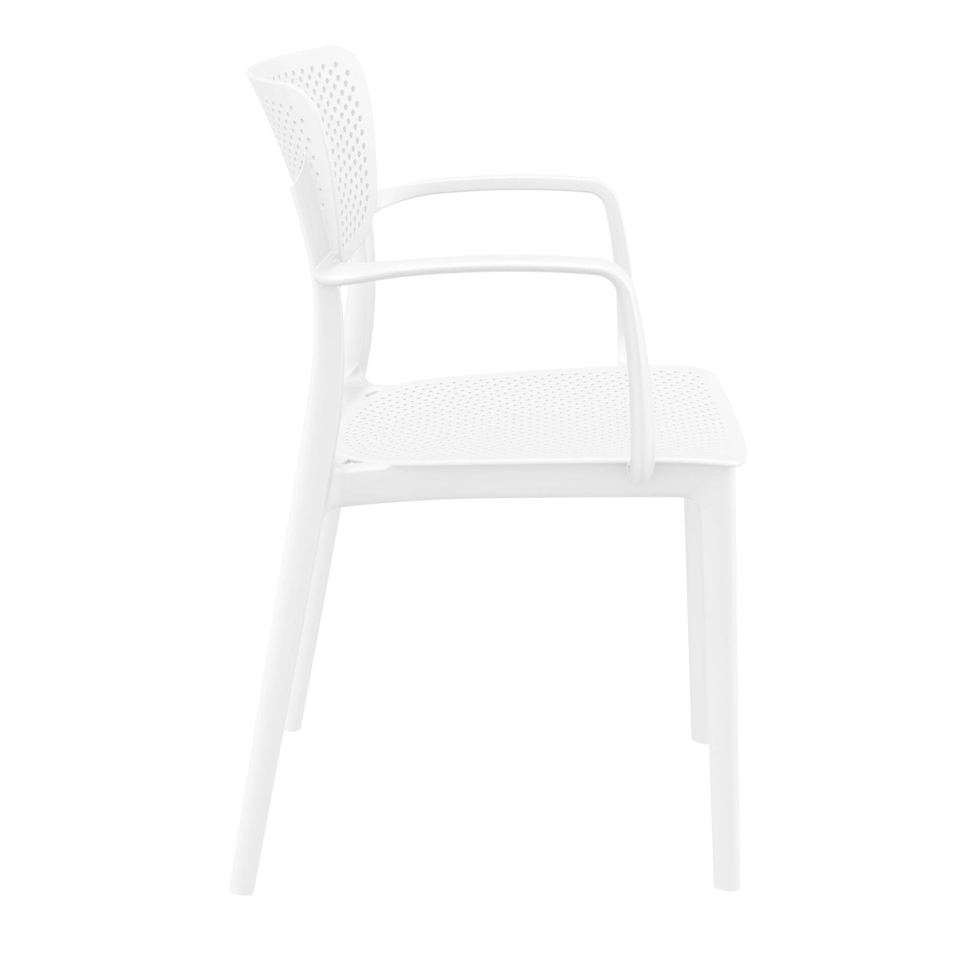 polypropylene hospitality seating loft armchair white side