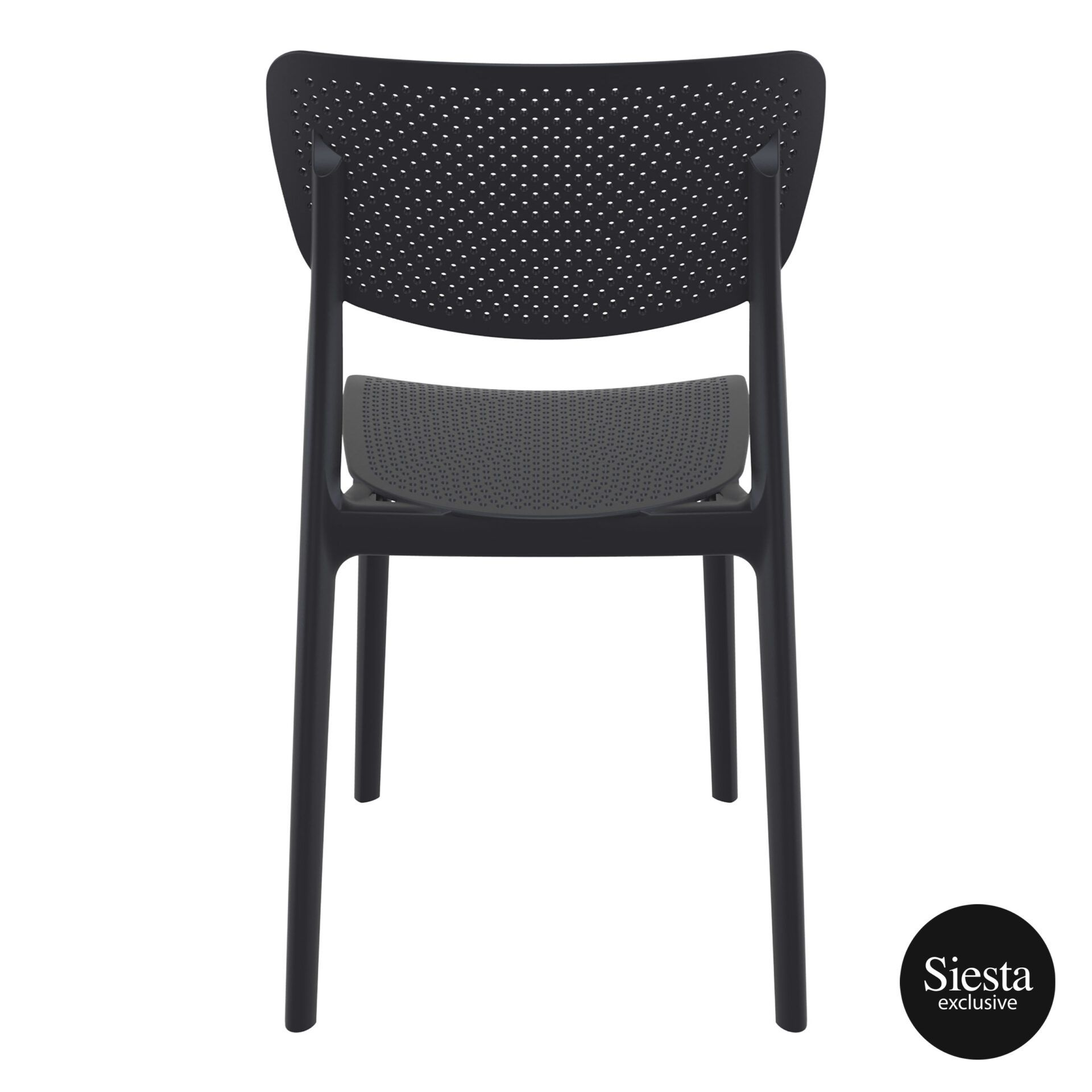 polypropylene hospitality seating lucy chair black back 1