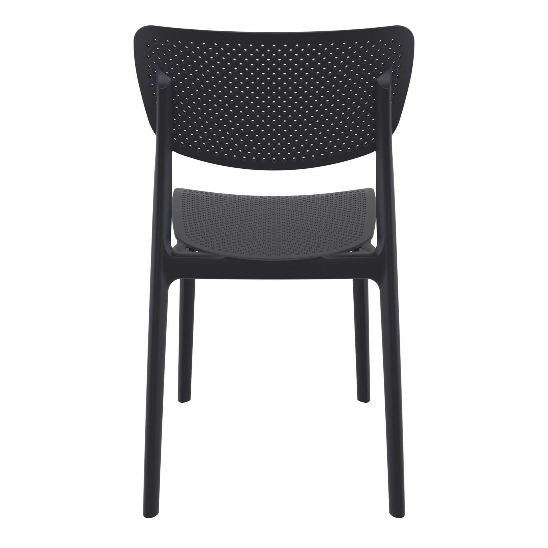 polypropylene hospitality seating lucy chair black back