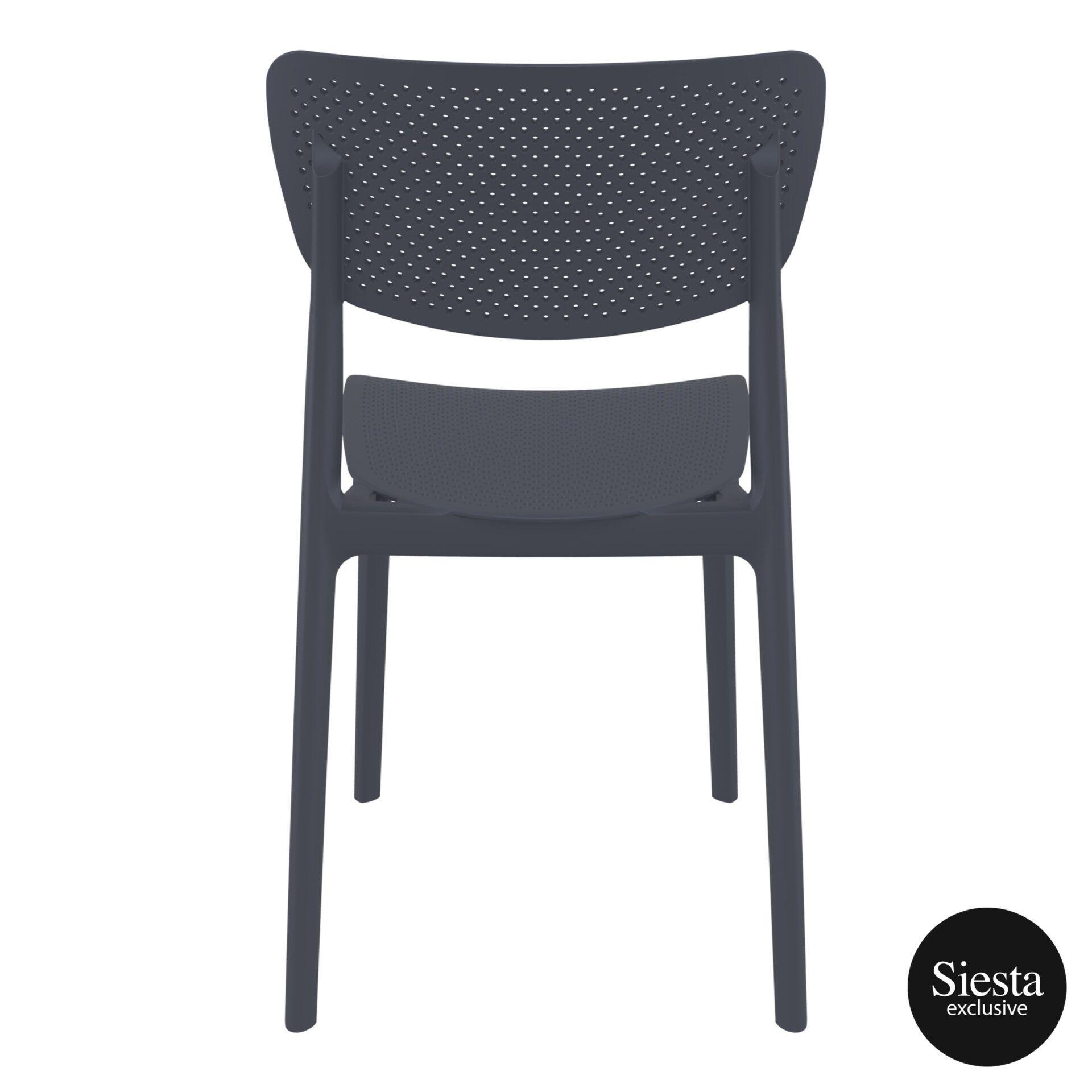 polypropylene hospitality seating lucy chair darkgrey back 2