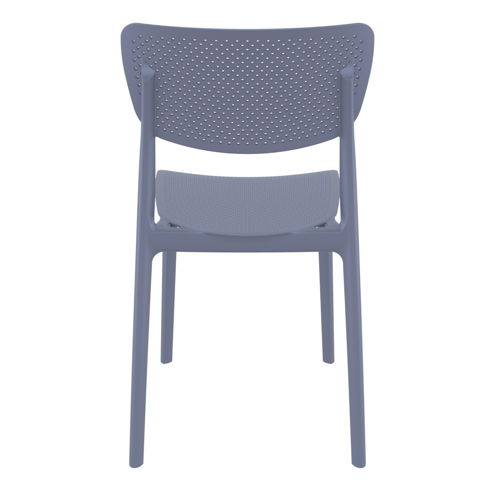 polypropylene hospitality seating lucy chair darkgrey back