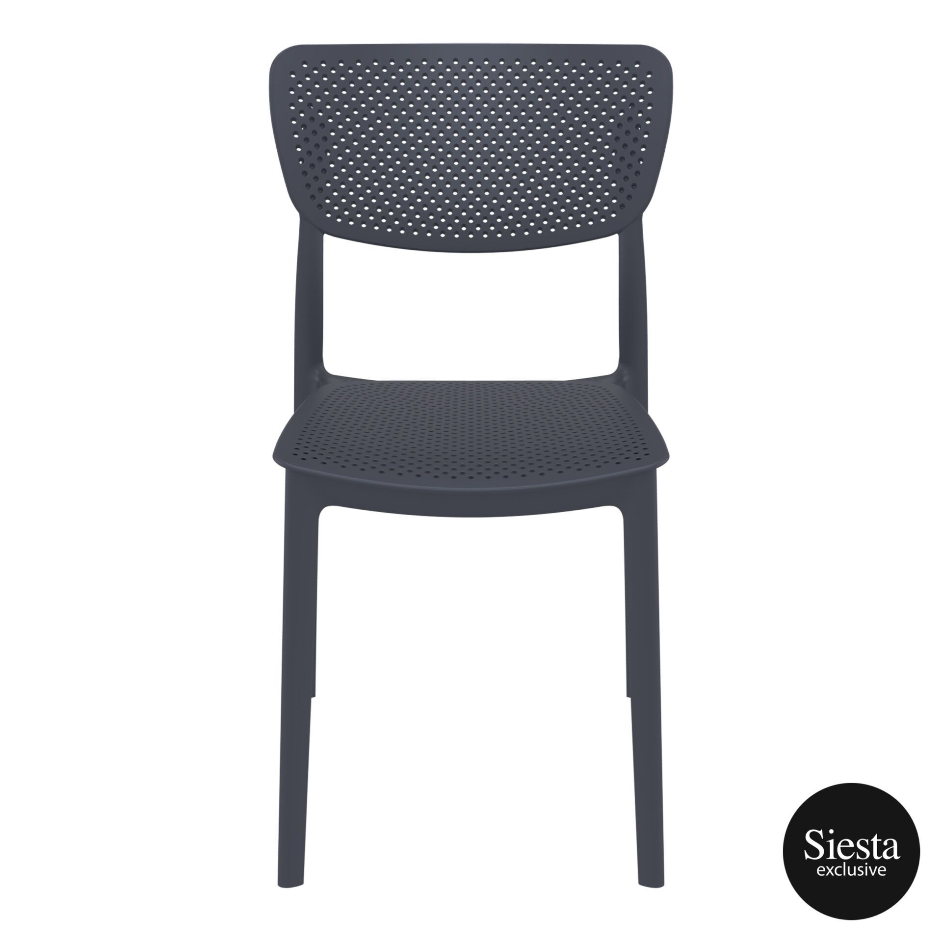 polypropylene hospitality seating lucy chair darkgrey front 2