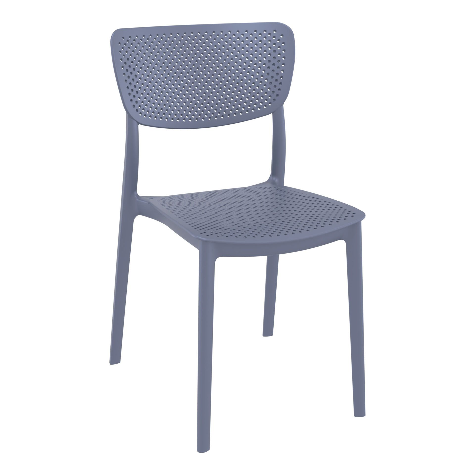 polypropylene hospitality seating lucy chair darkgrey front side