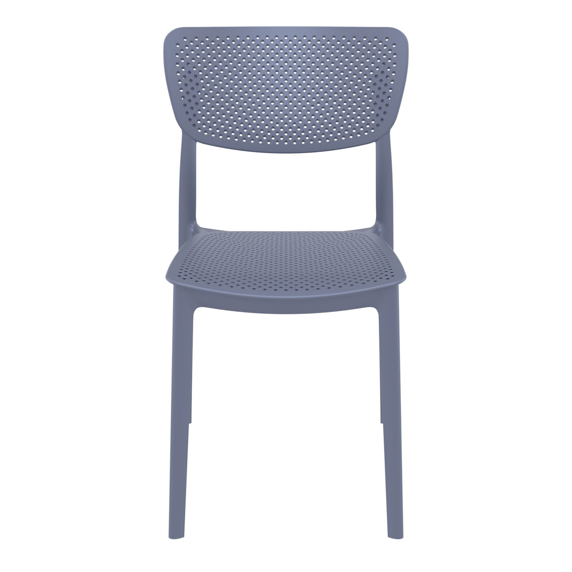 polypropylene hospitality seating lucy chair darkgrey front