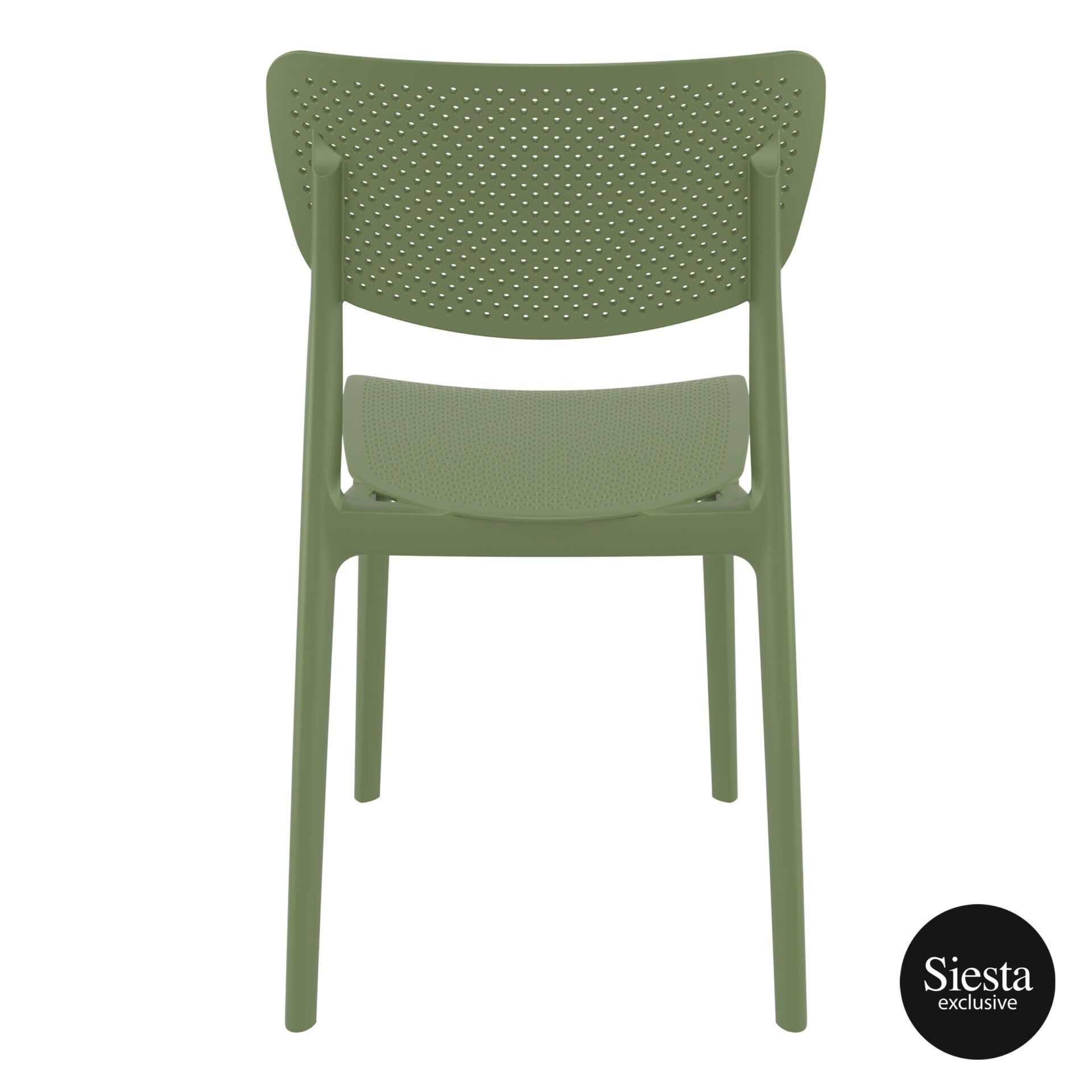 polypropylene hospitality seating lucy chair olive green back 1