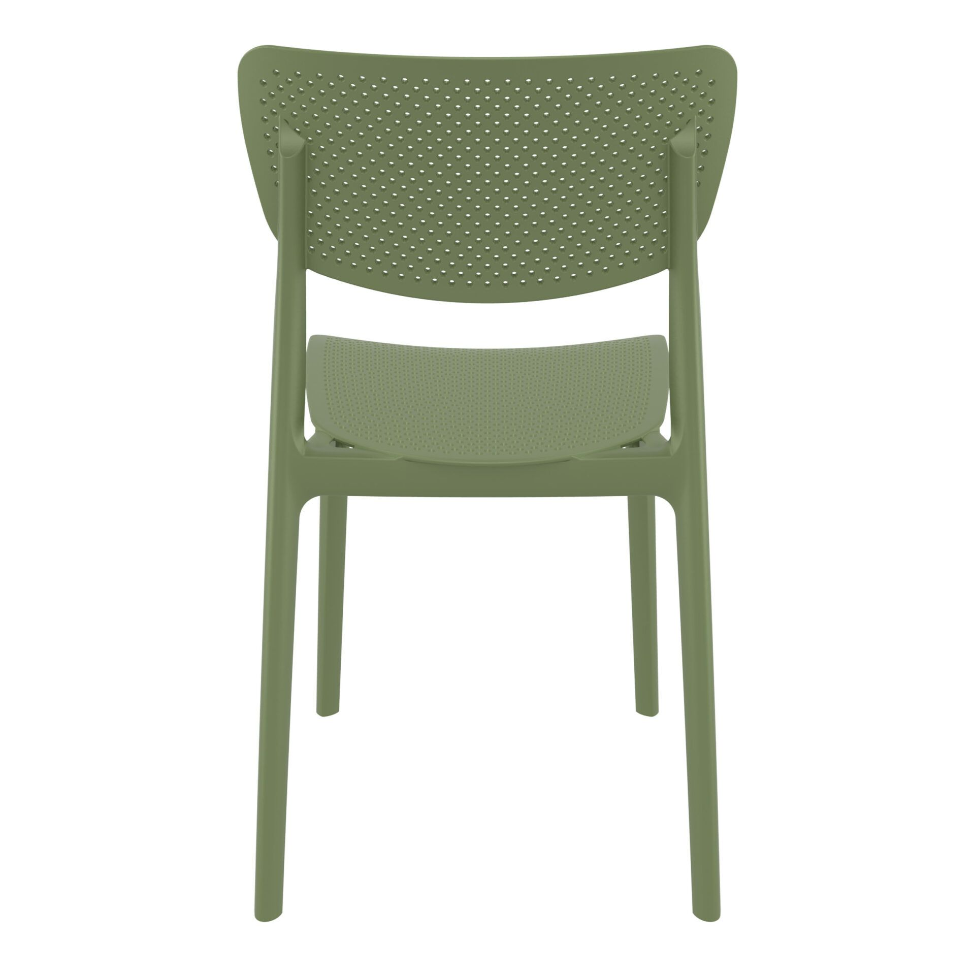 polypropylene hospitality seating lucy chair olive green back