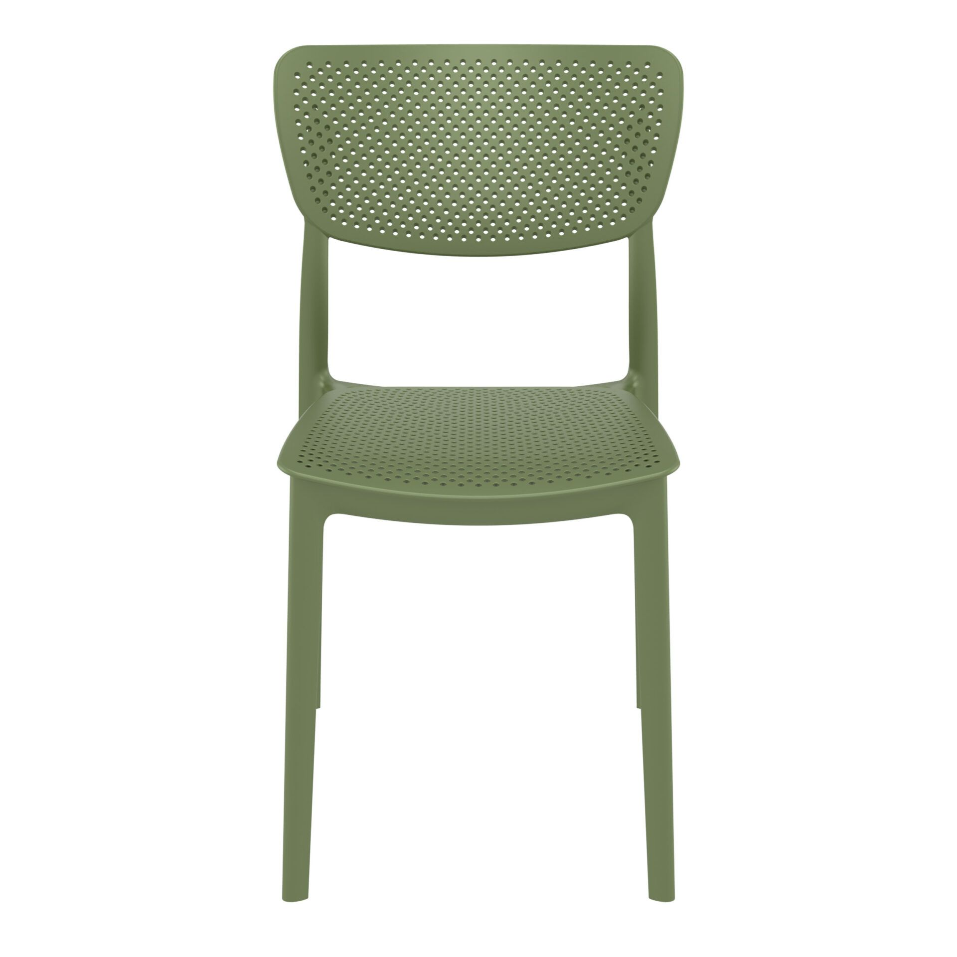 polypropylene hospitality seating lucy chair olive green front