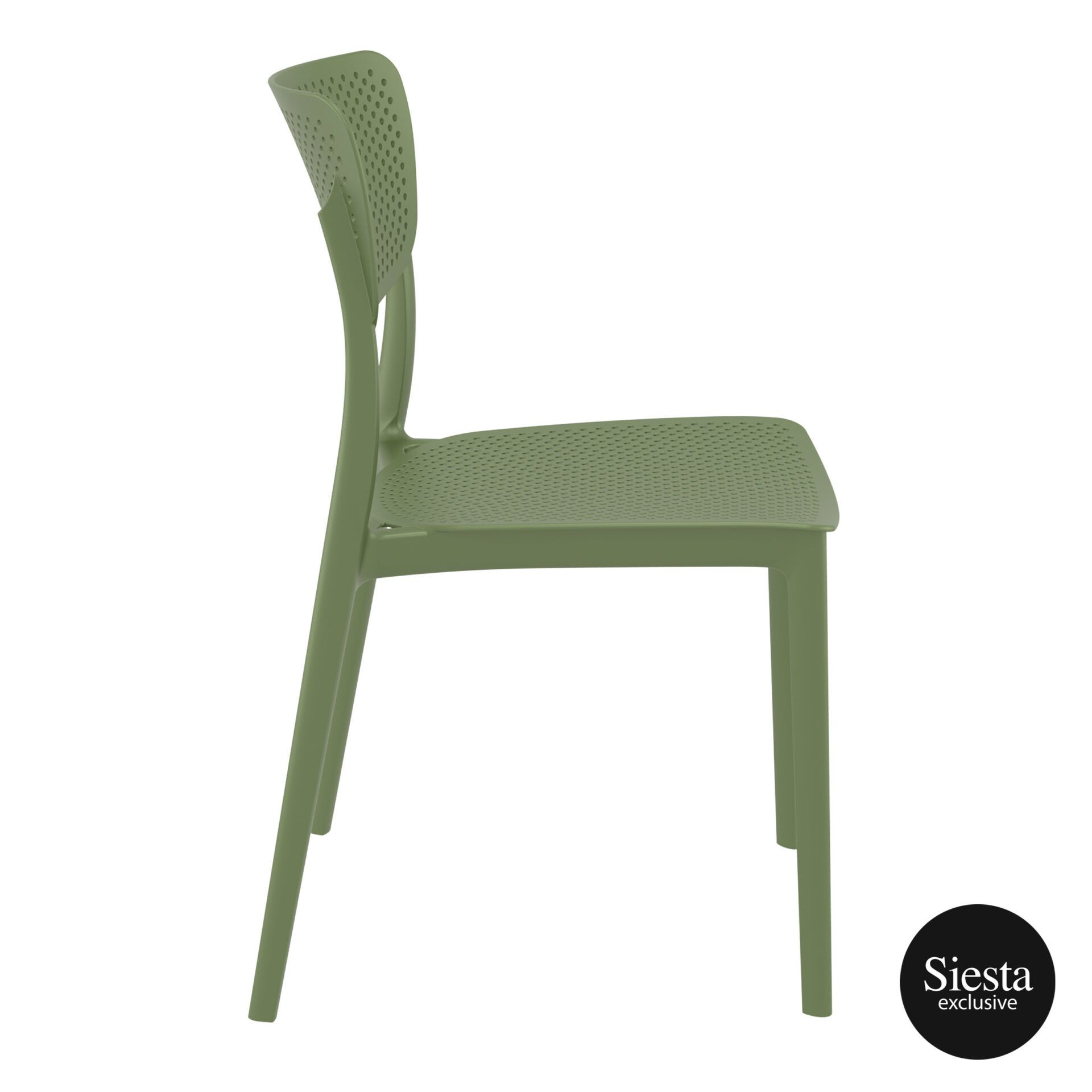 polypropylene hospitality seating lucy chair olive green side 1